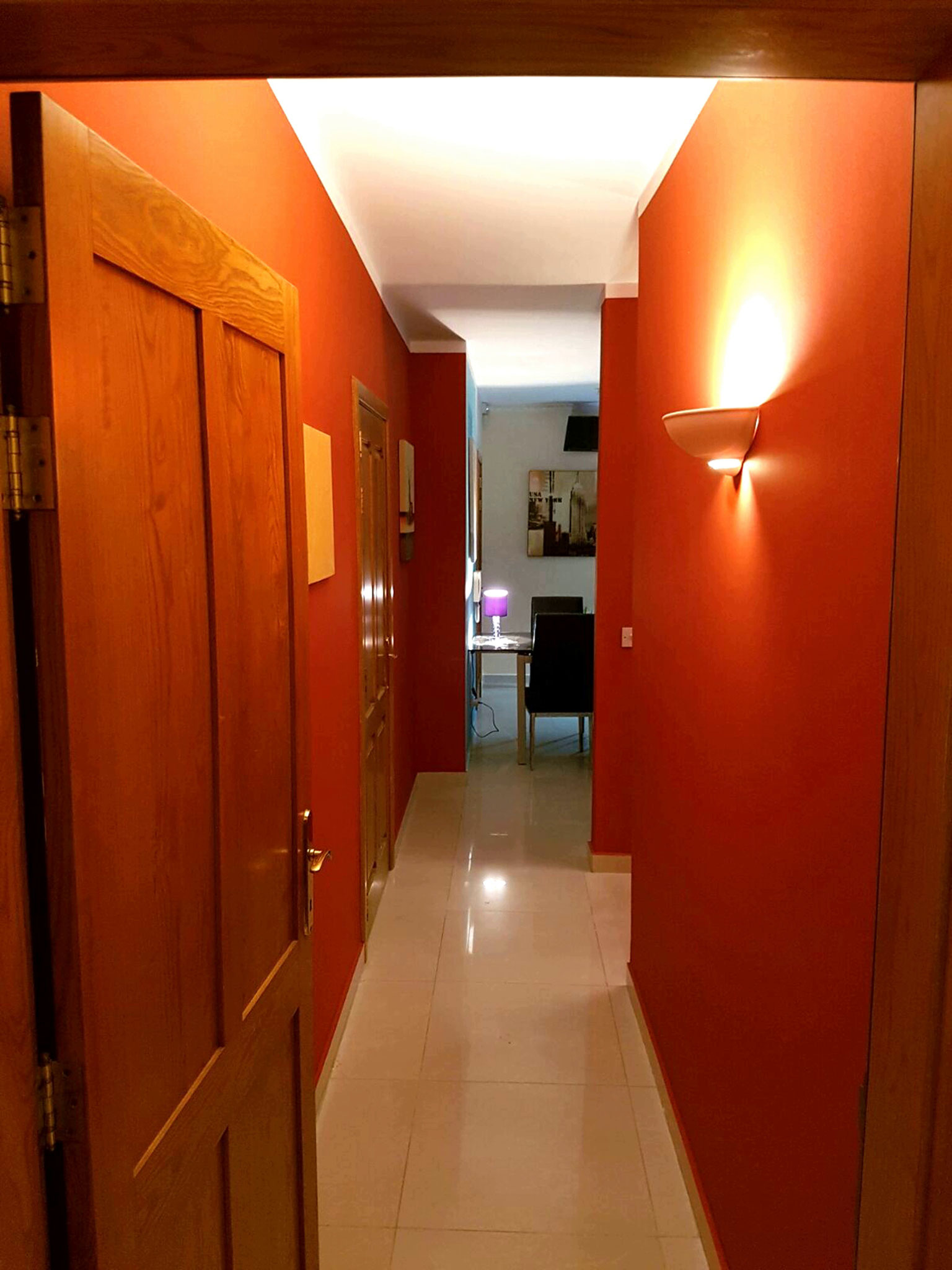 corridor to the back of the apartment