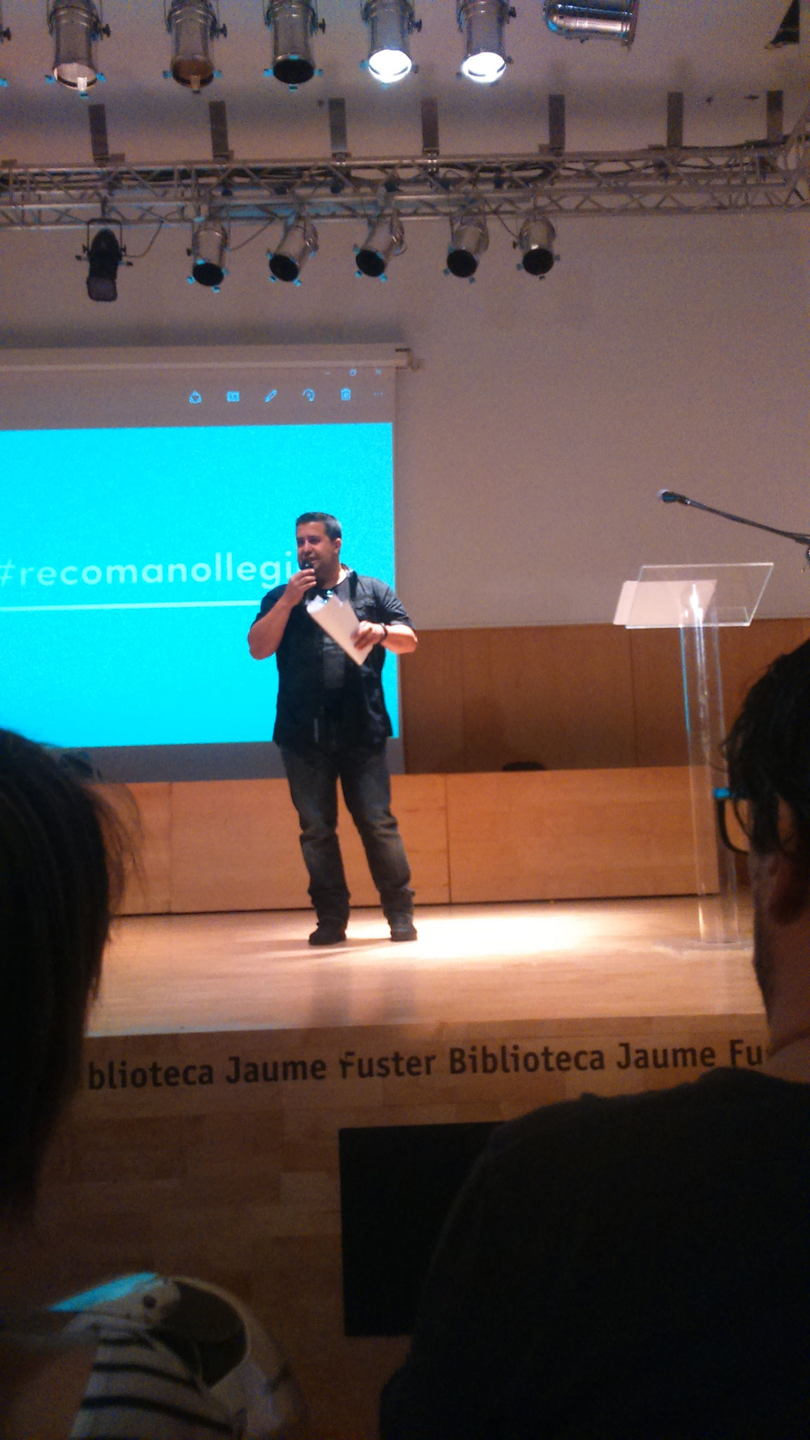 Ricard Ruiz Garzón, membre del jurat #Recomanollegir