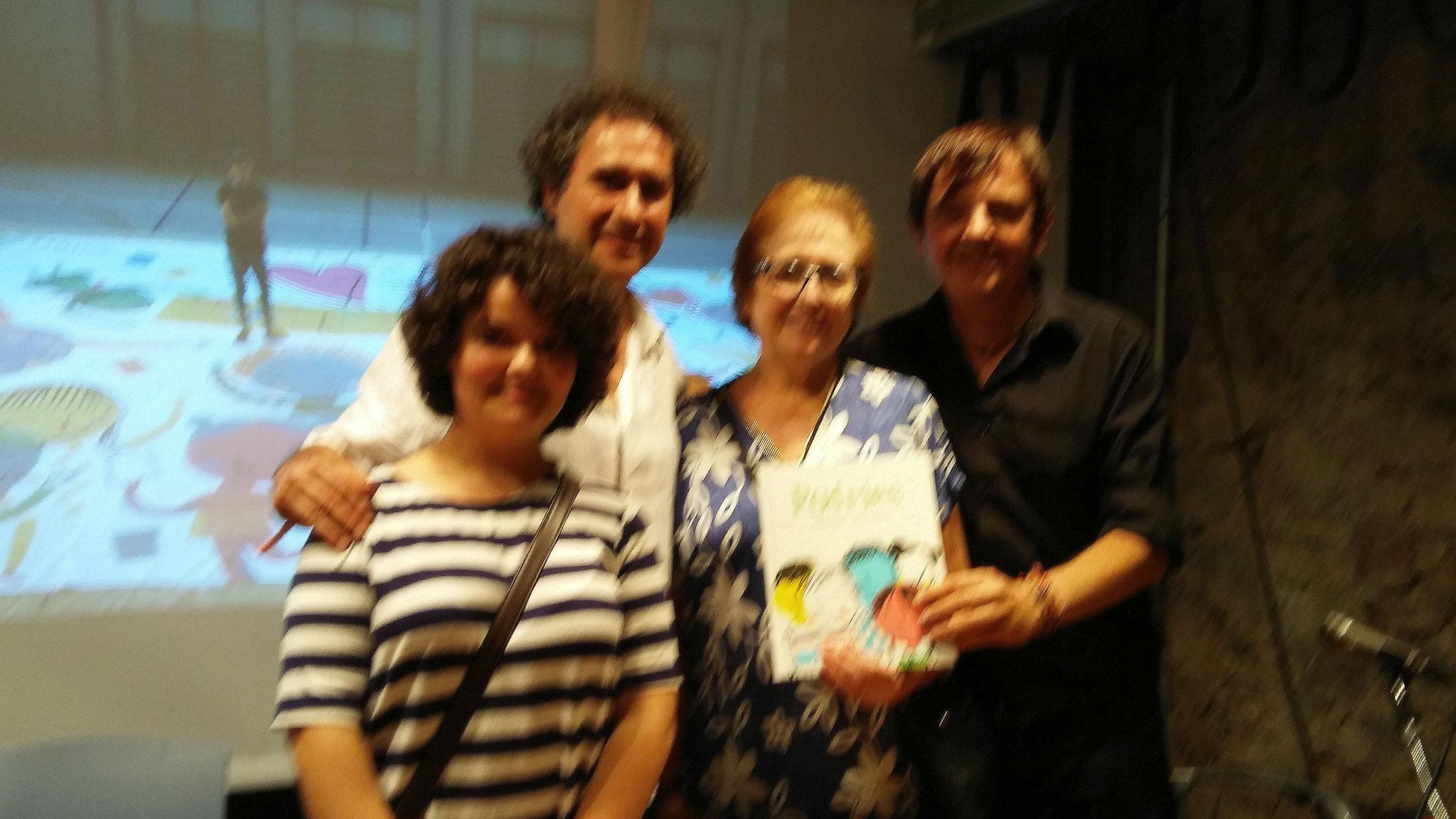 D'esquerra a dreta: Mixa, Francesc Bayés, Imma Cahué, Ignasi Blanch