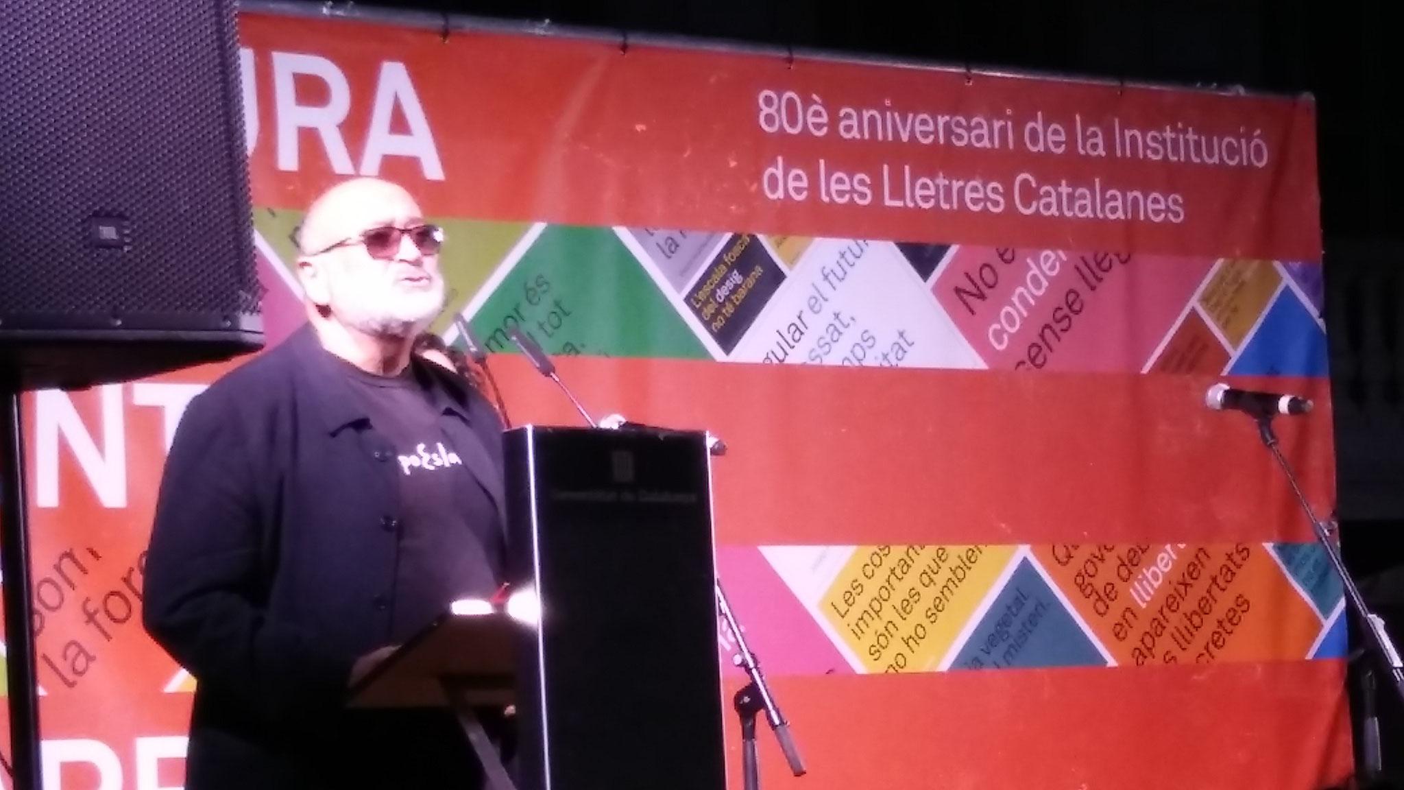 Biel Mesquida, membre del Consell Assessor de la ILC i en representació de la presidència de l'AELC