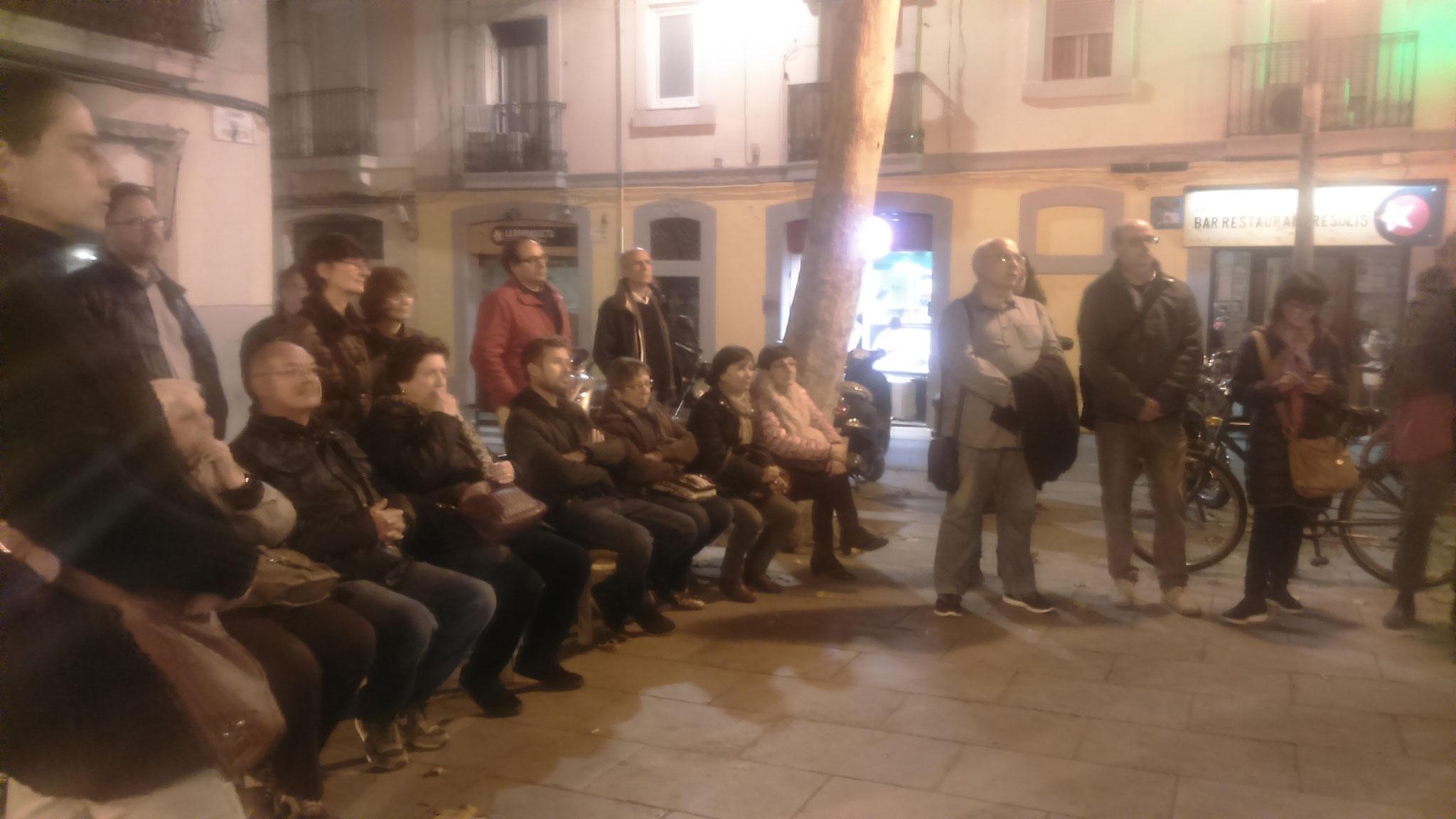A la plaça Raspall