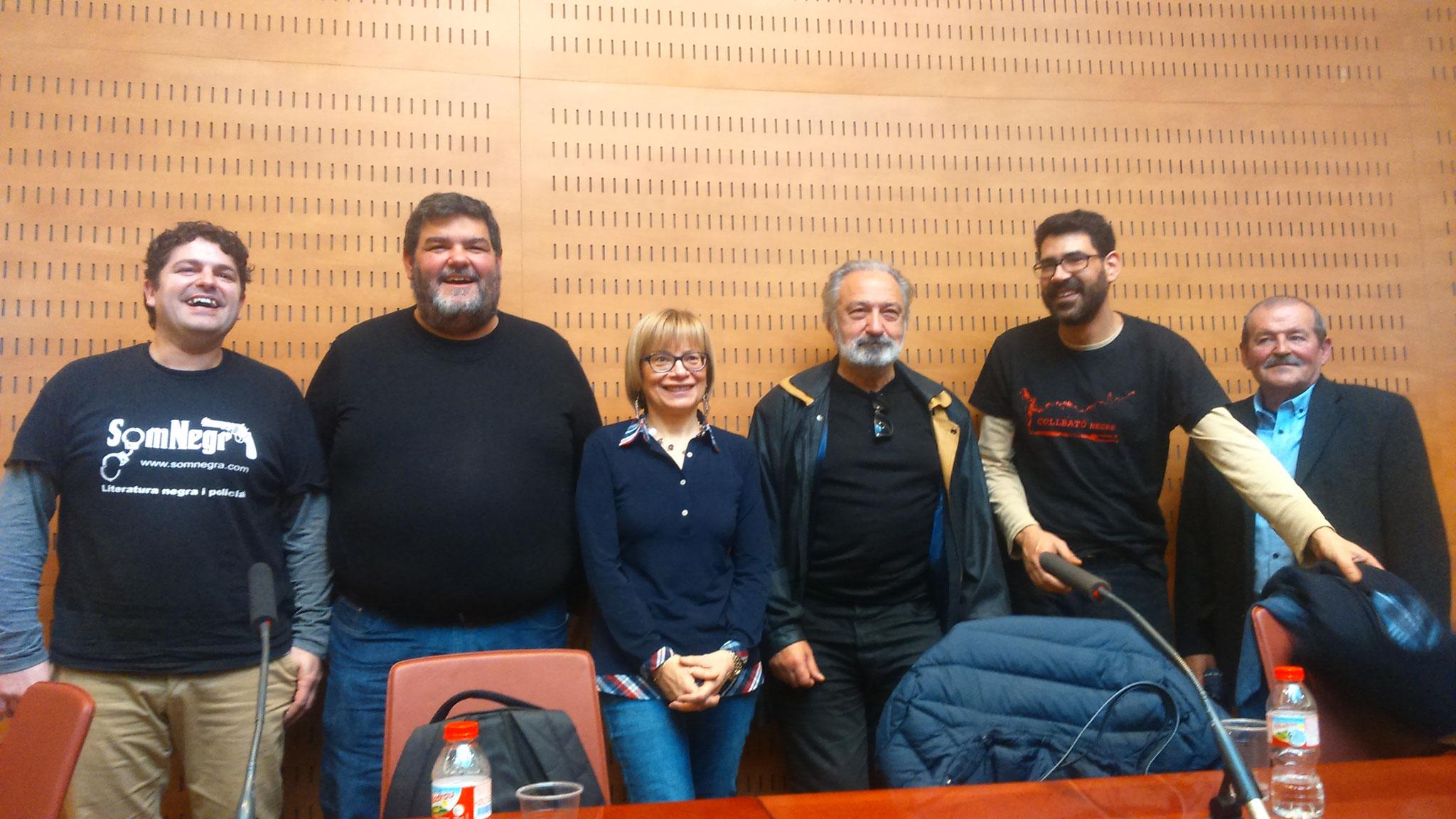 D'esquerra a dreta: Díaz, Bennasar, Sanjuan, Muñoz, Ledesma i Tiñena