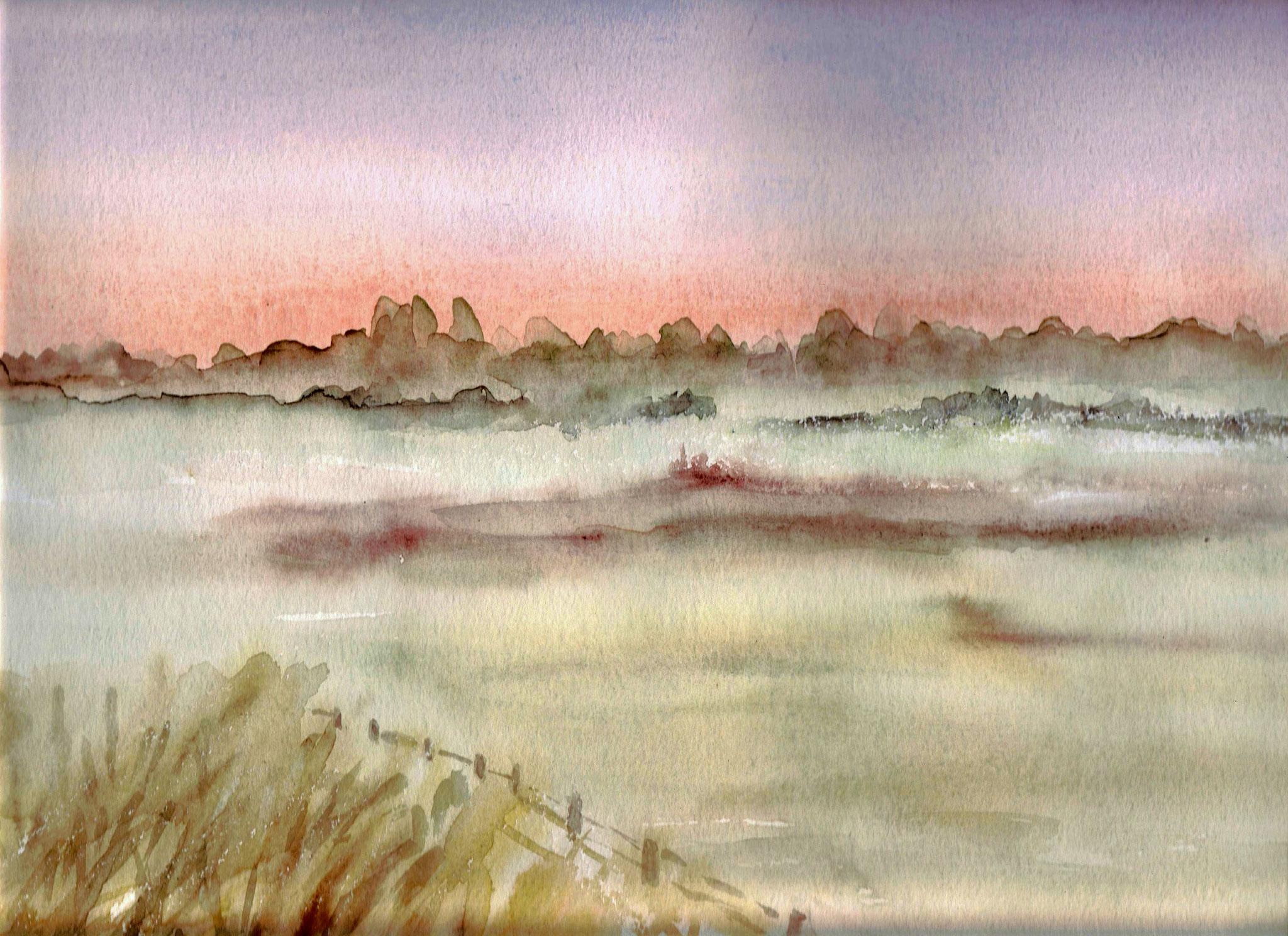 Oderbruch im Nebel, 30x40 (2013)