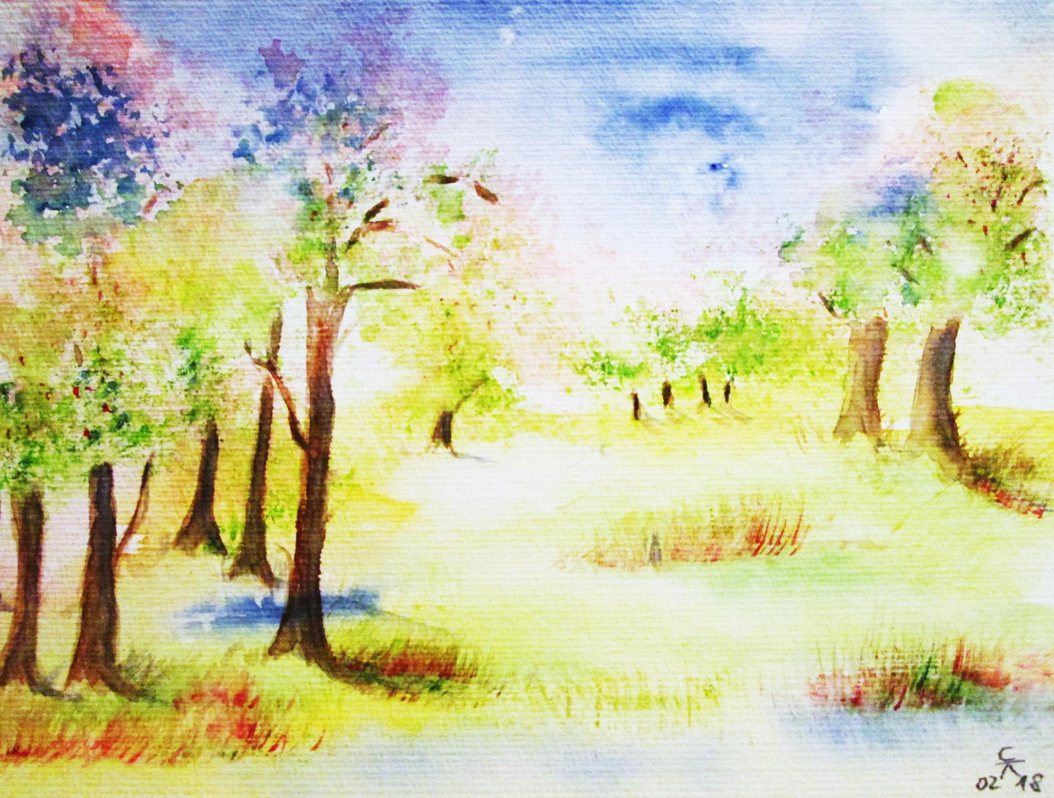 Frühling naht, 20x20 (2018)