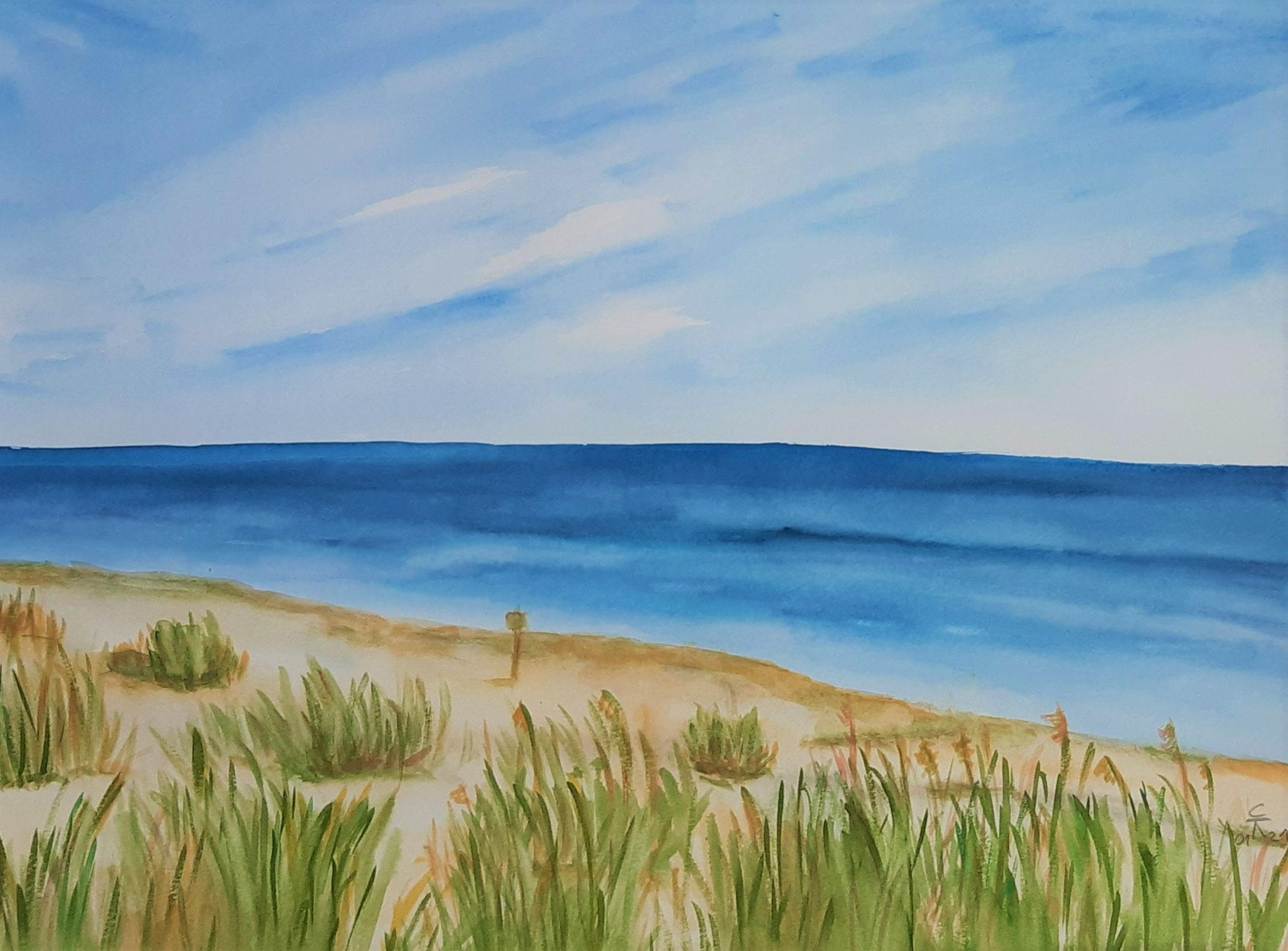 Strand bei Skillinge, 36x47 (2021)