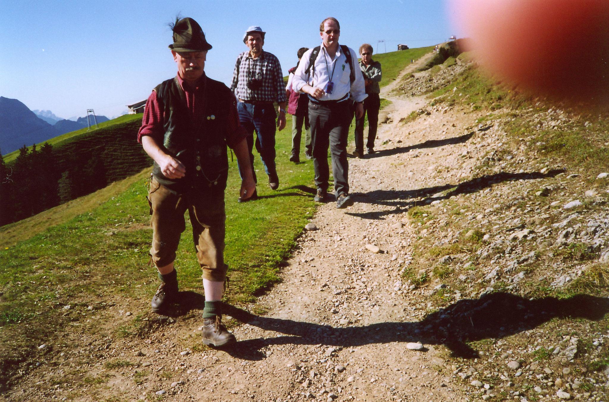 Andris Manfred bei einer Wanderung