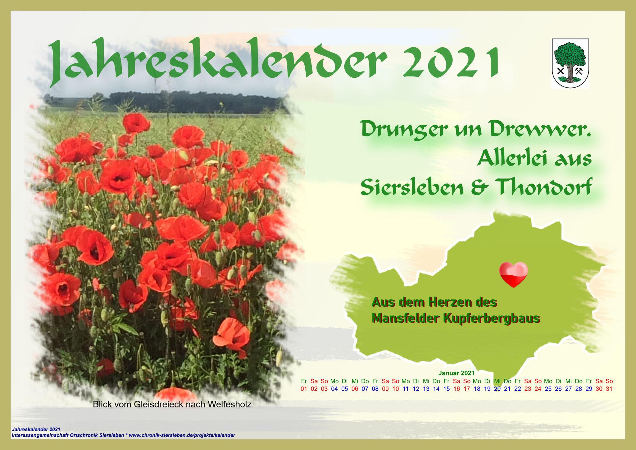 Jahreskalender 2021; Deckblatt