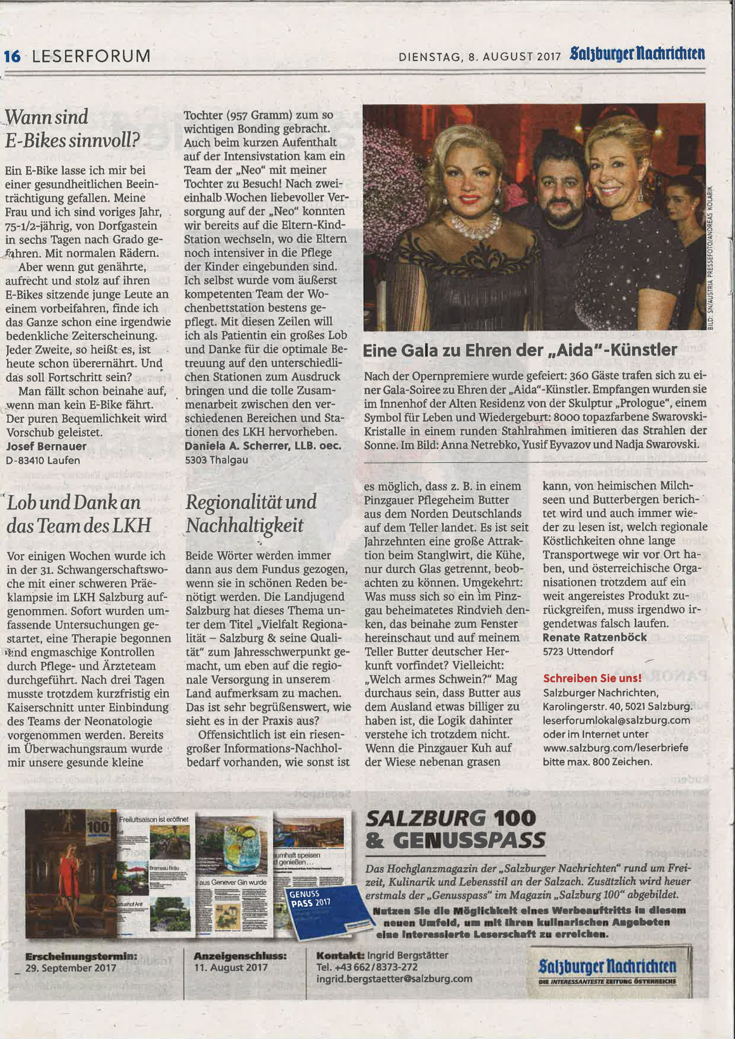 Salzburger Nachrichten, 8. August 2017