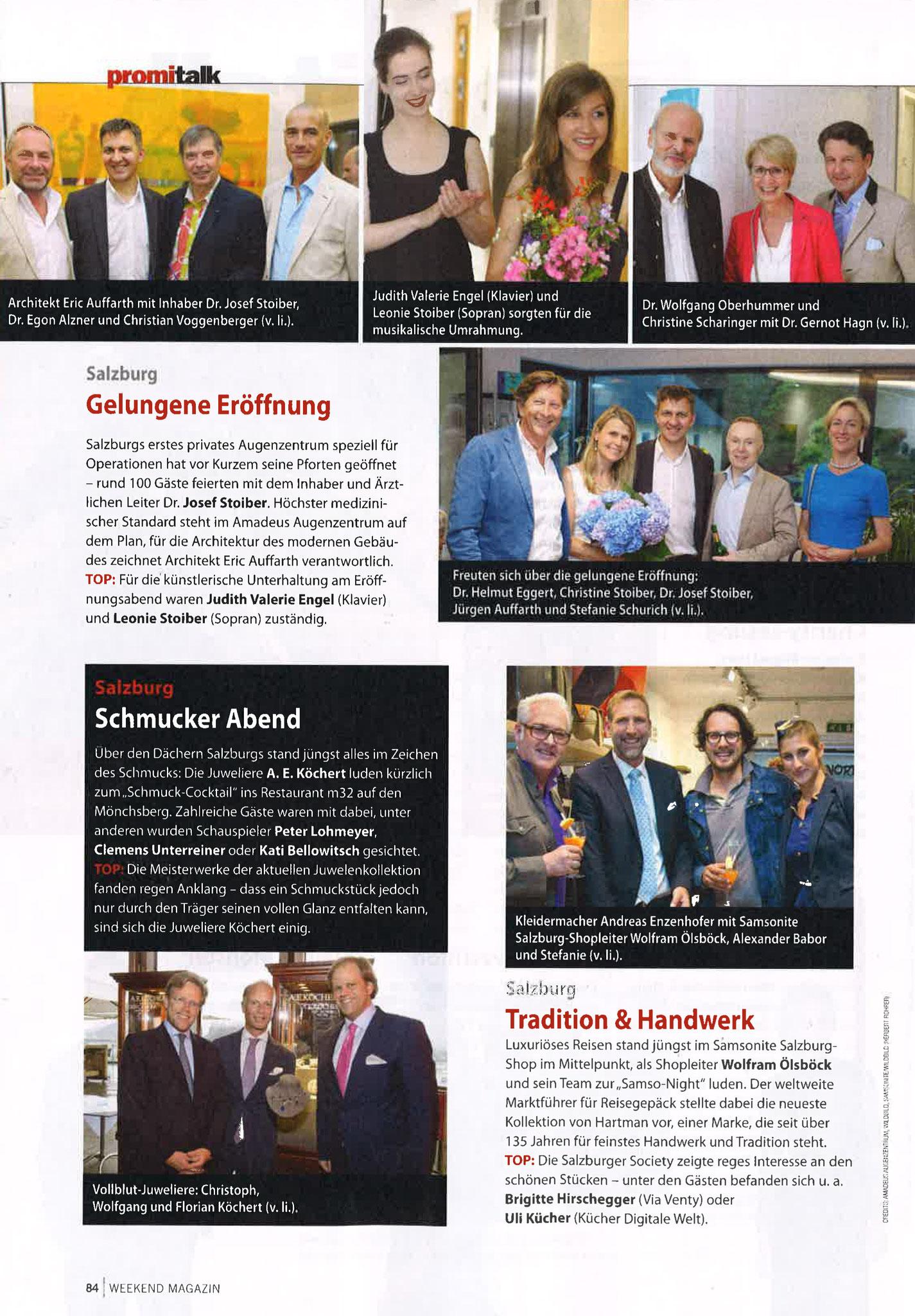 WEEKEND Magazin, 26. August 2016
