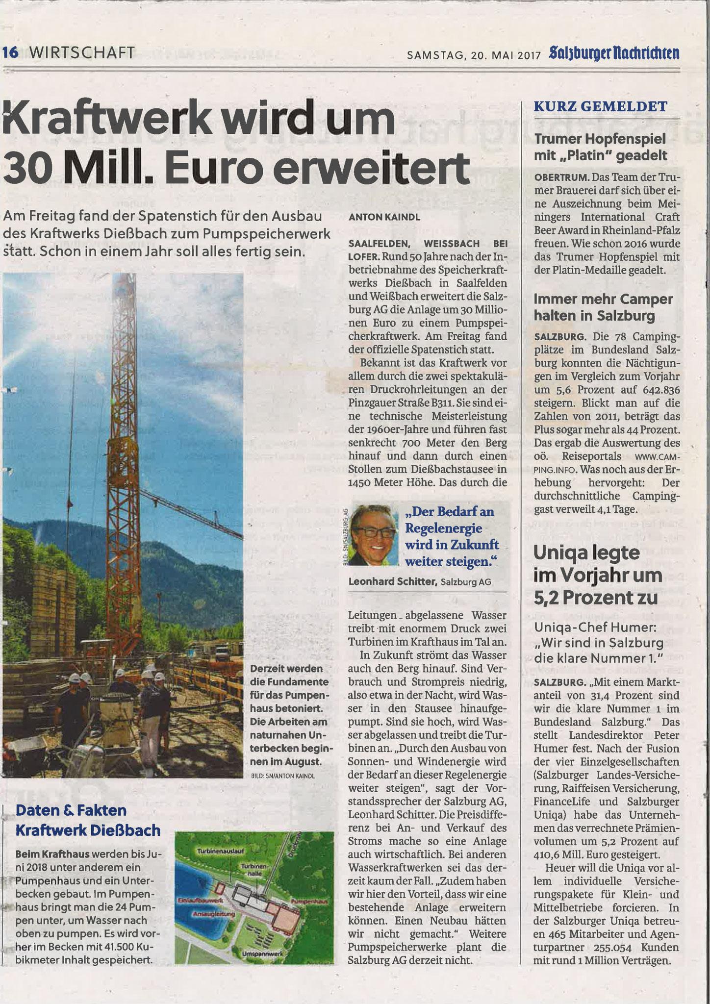 Salzburger Nachrichten, 20. Mai 2017