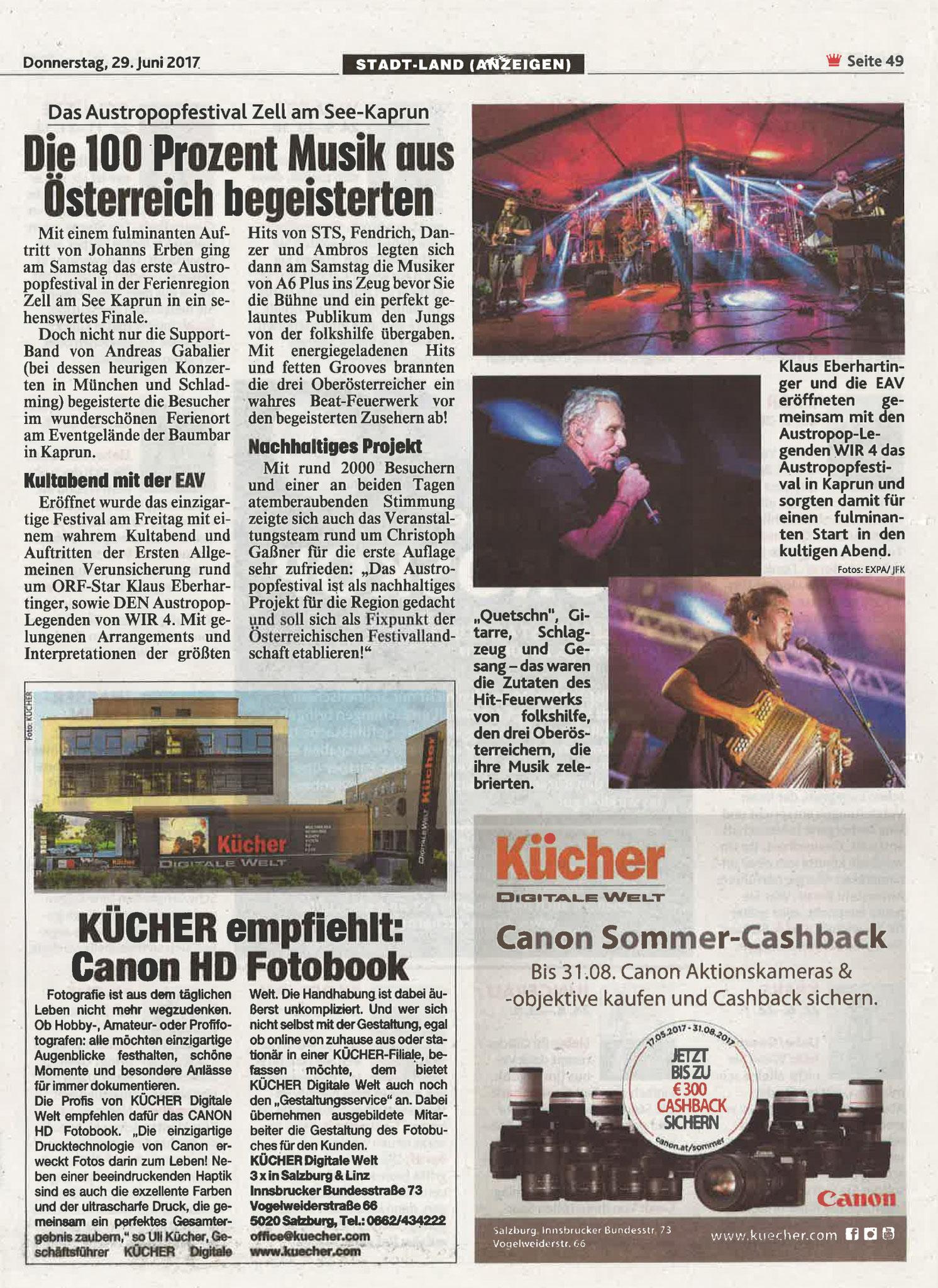 Kronen Zeitung, 29. Juni 2017