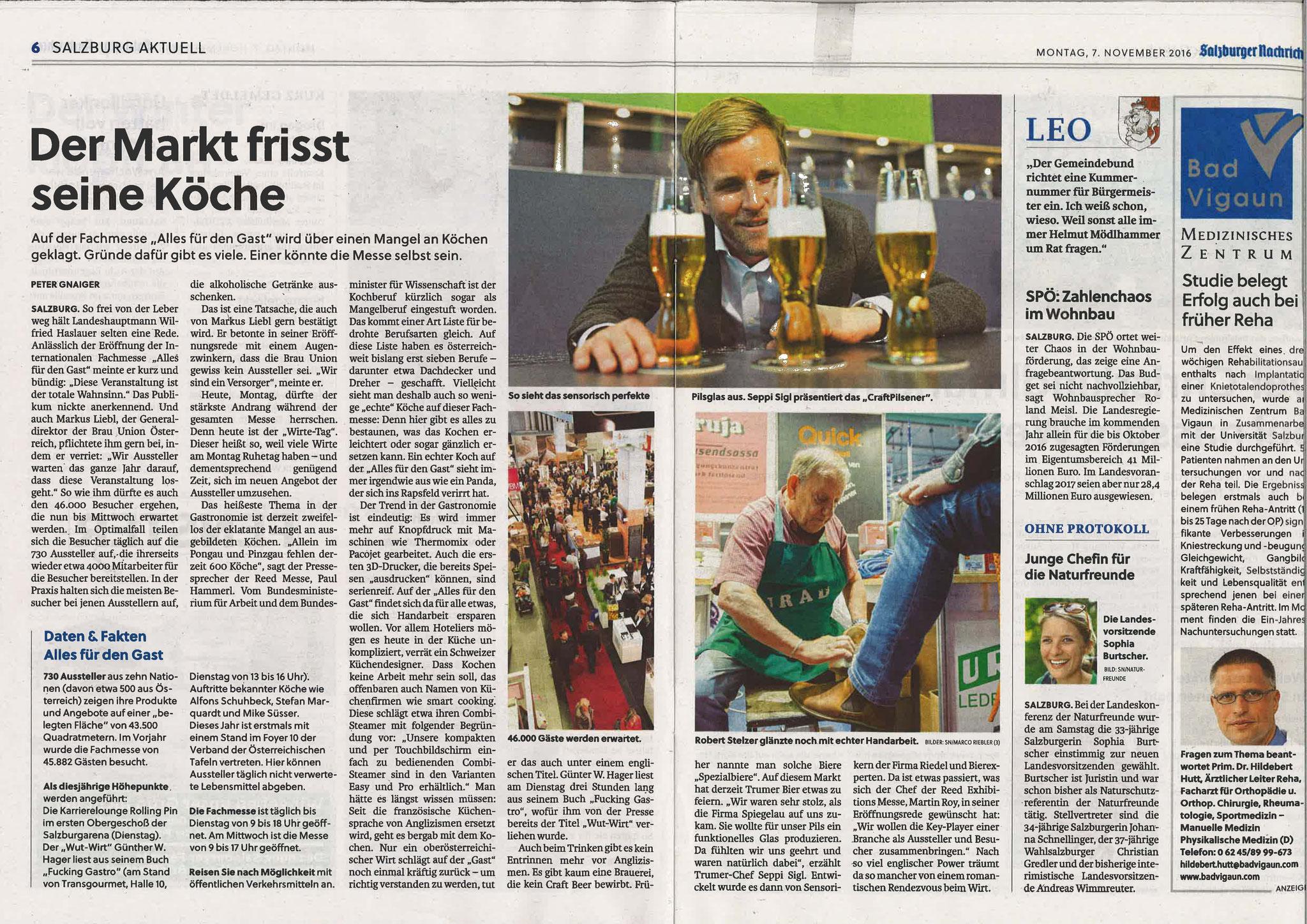 Salzburger Nachrichten, 7. November 2016