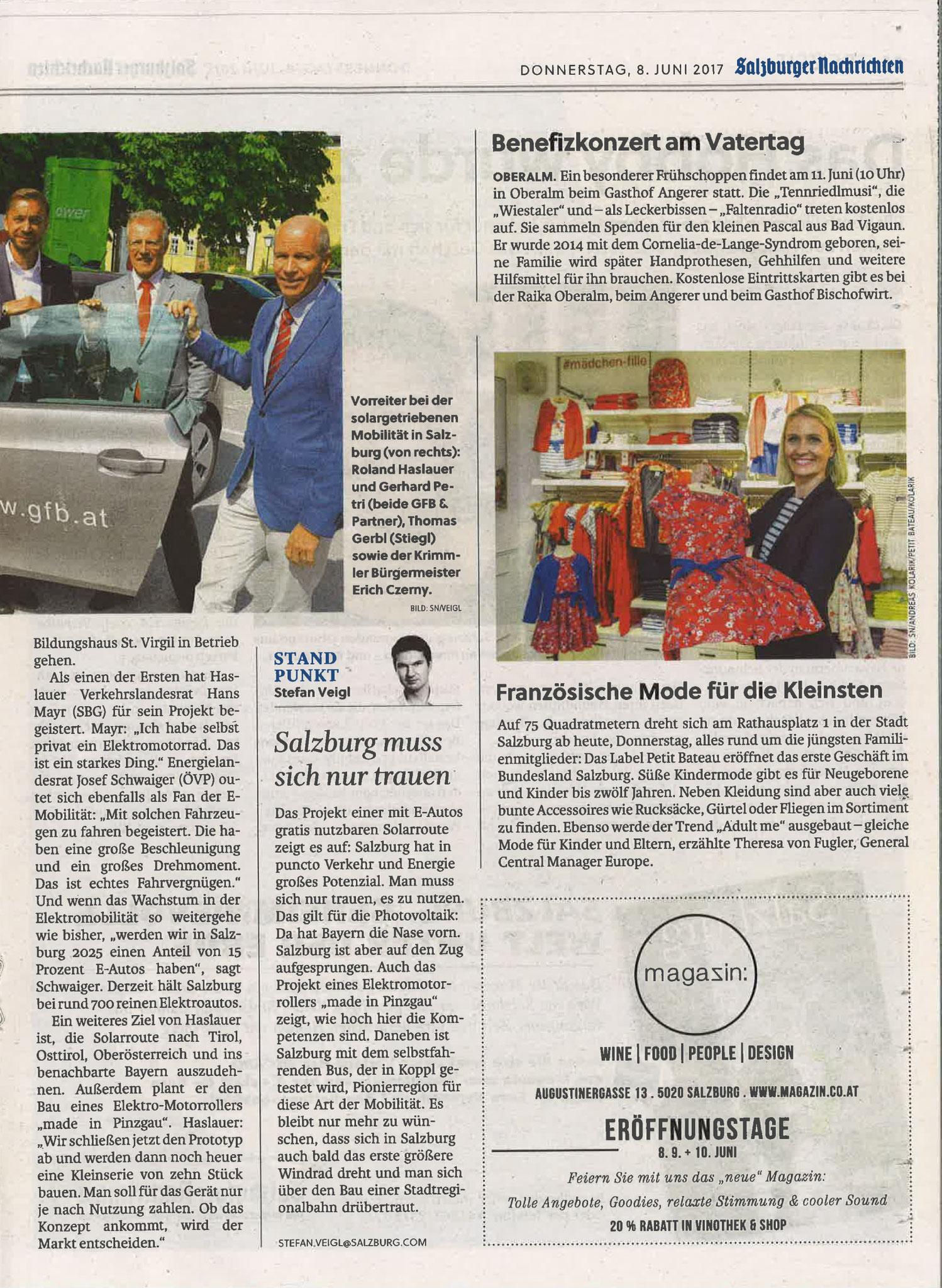 Salzburger Nachrichten, 8. Juni 2017