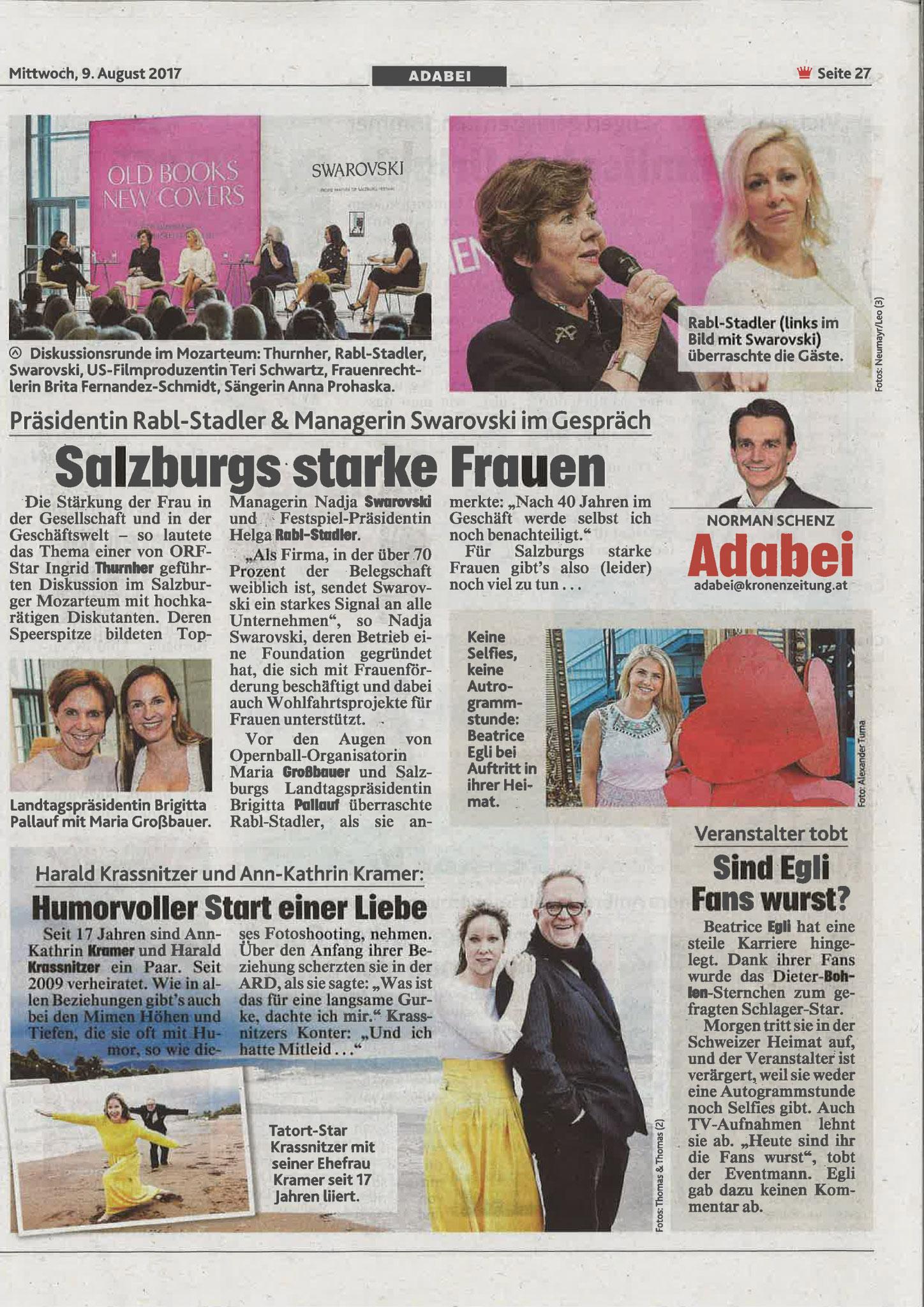 Kronen Zeitung, 9. August 2017
