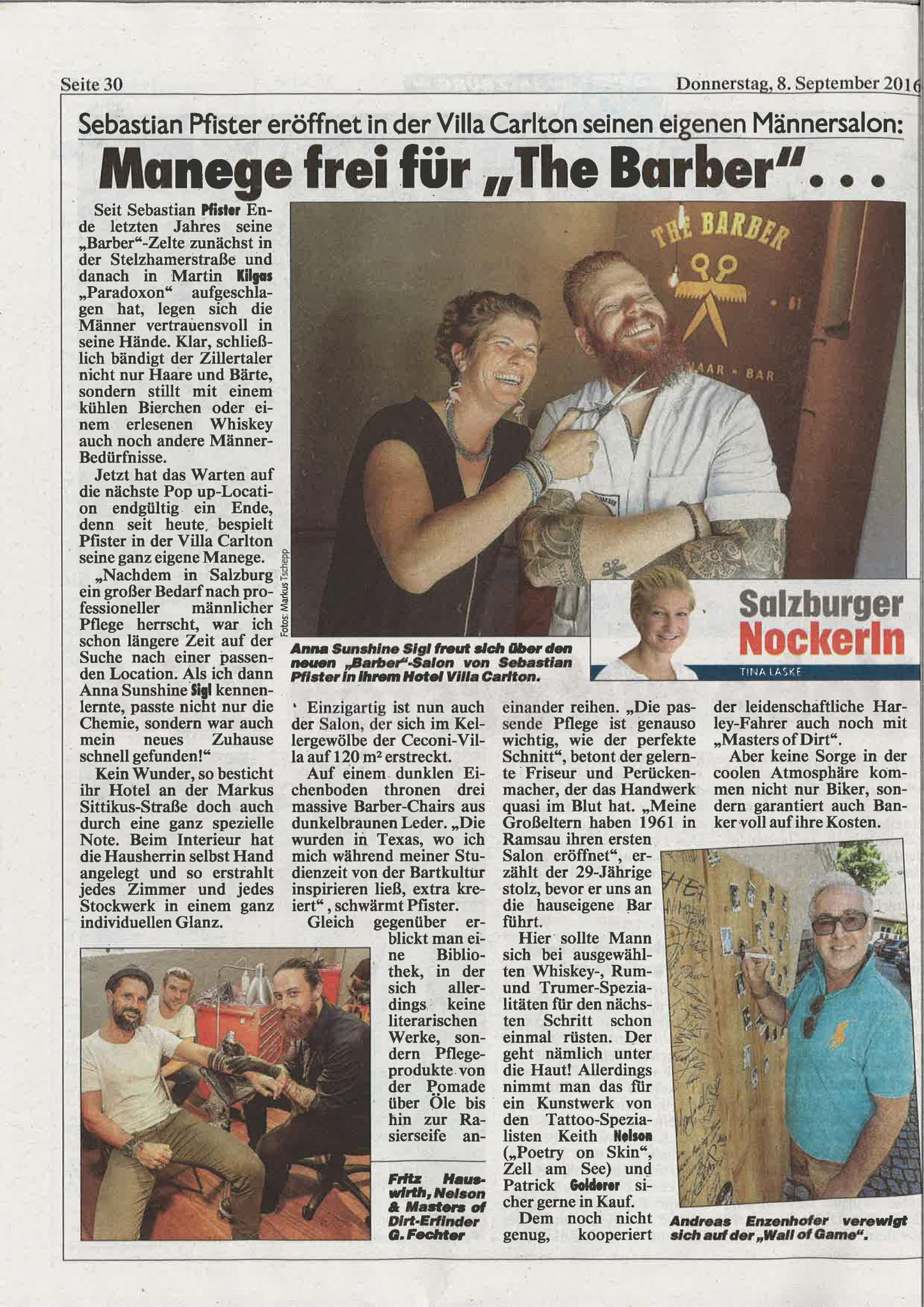 Kronen Zeitung, 8. September 2016