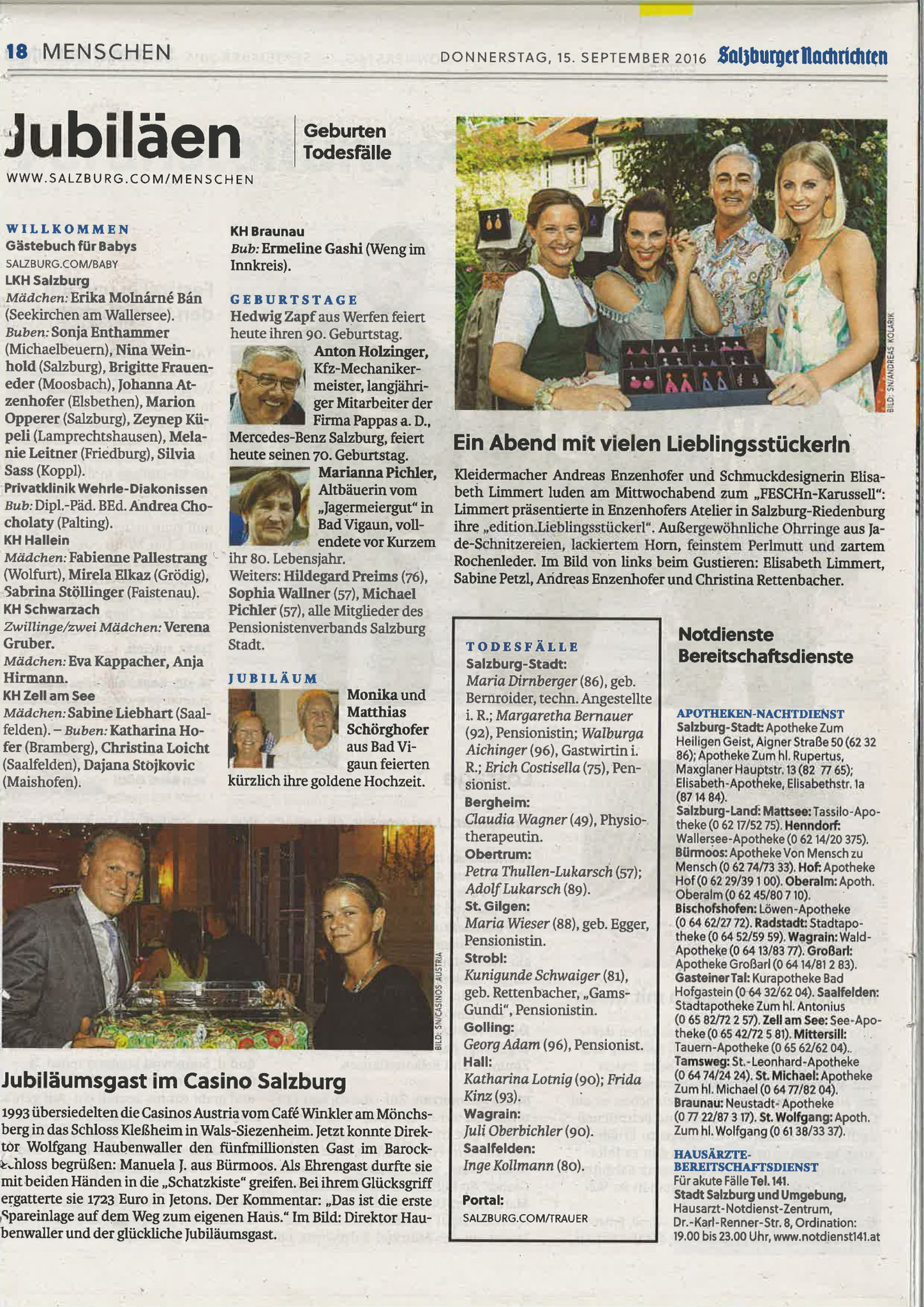 Salzburger Nachrichten, 15. September 2016