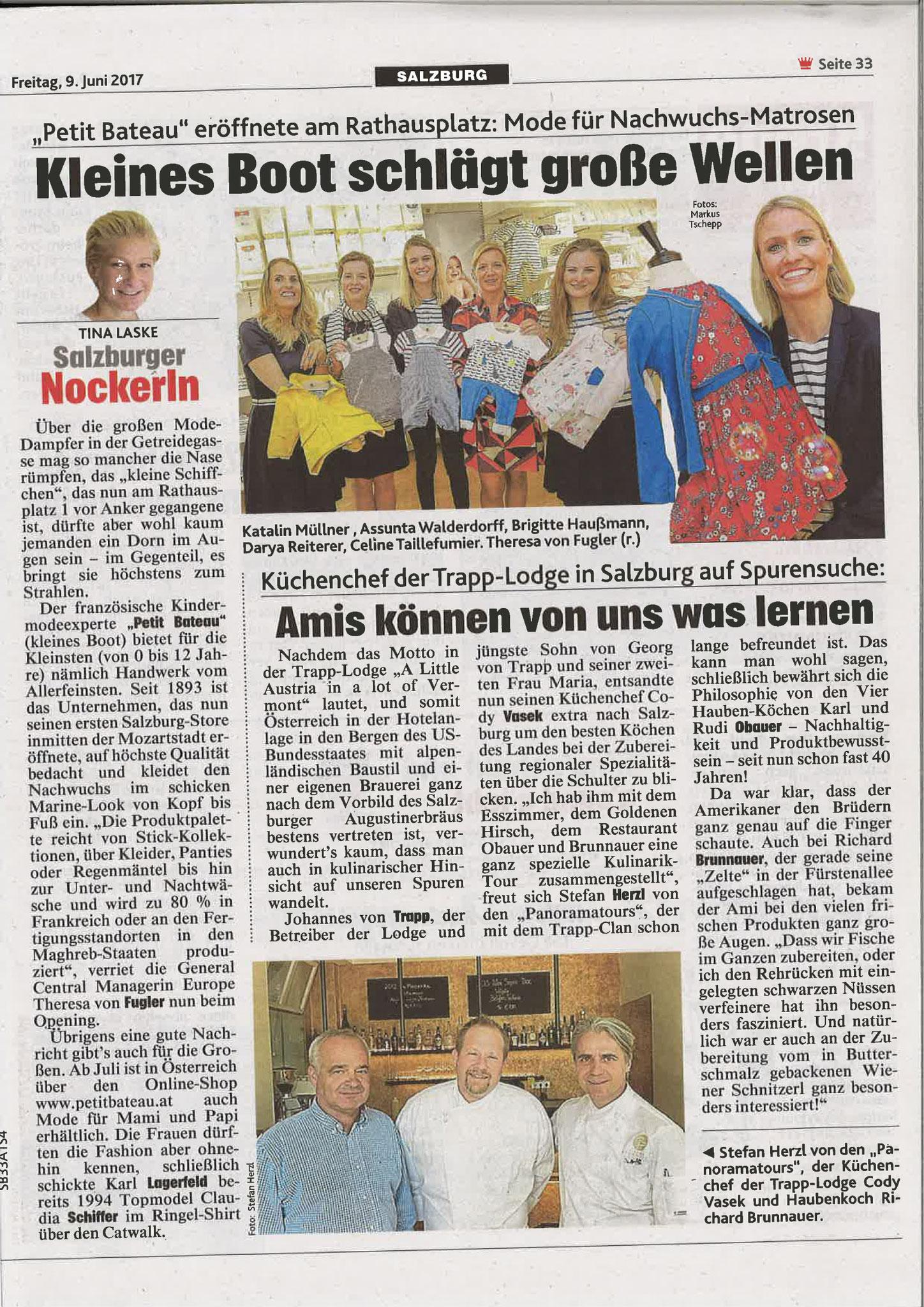 Kronen Zeitung Salzburg, 9. Juni 2017