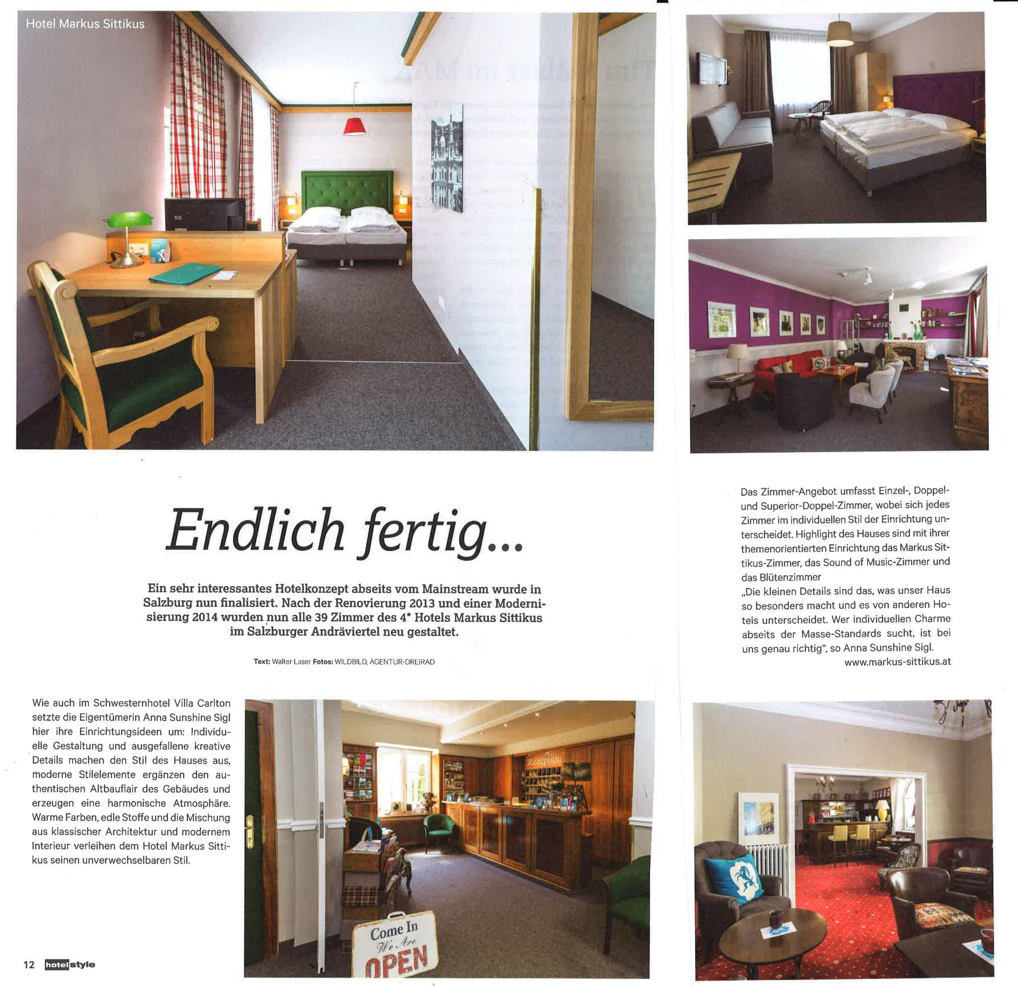 Hotel&Style, Oktober 2015