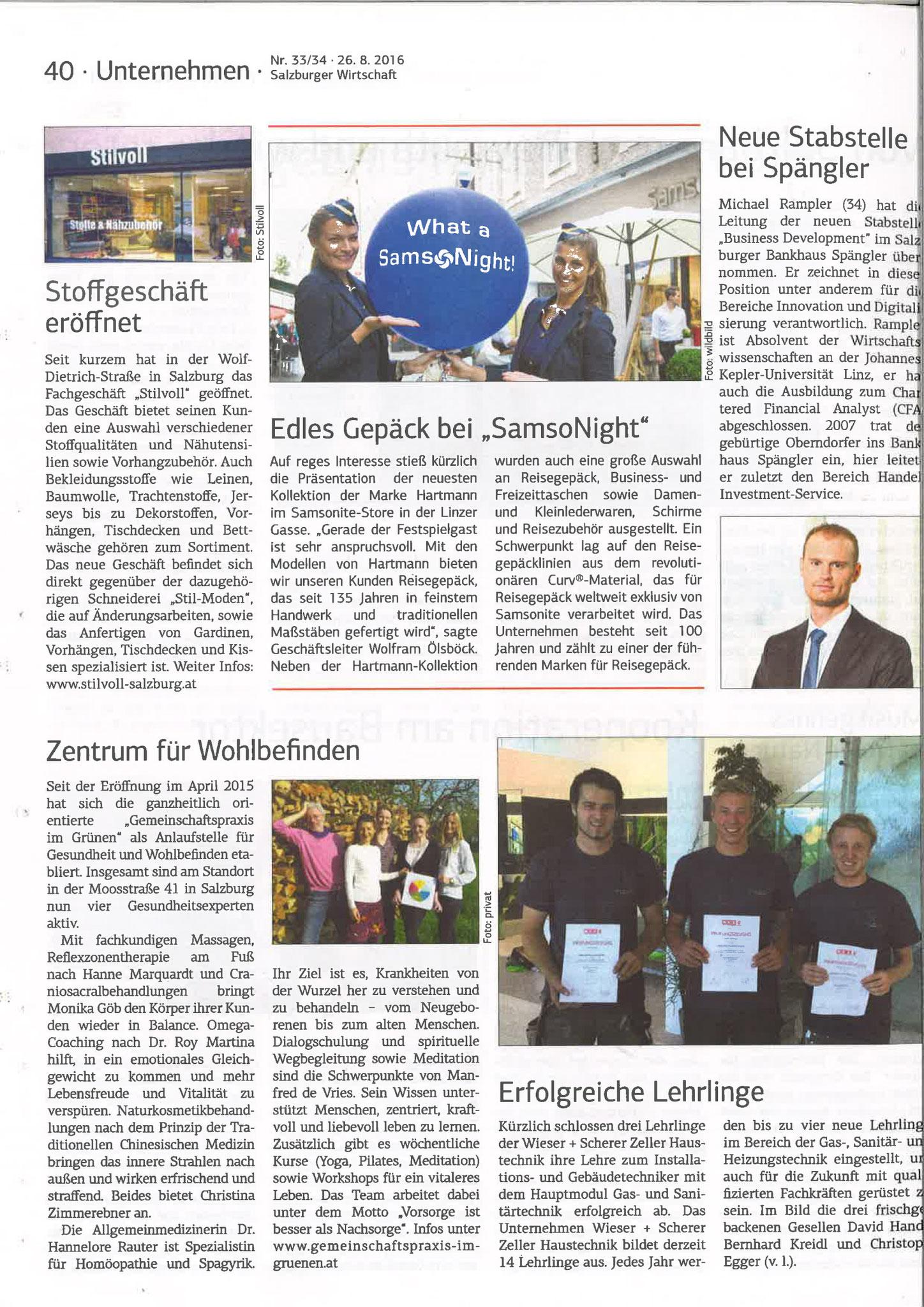 Salzburger Wirtschaft, 26. August 2016