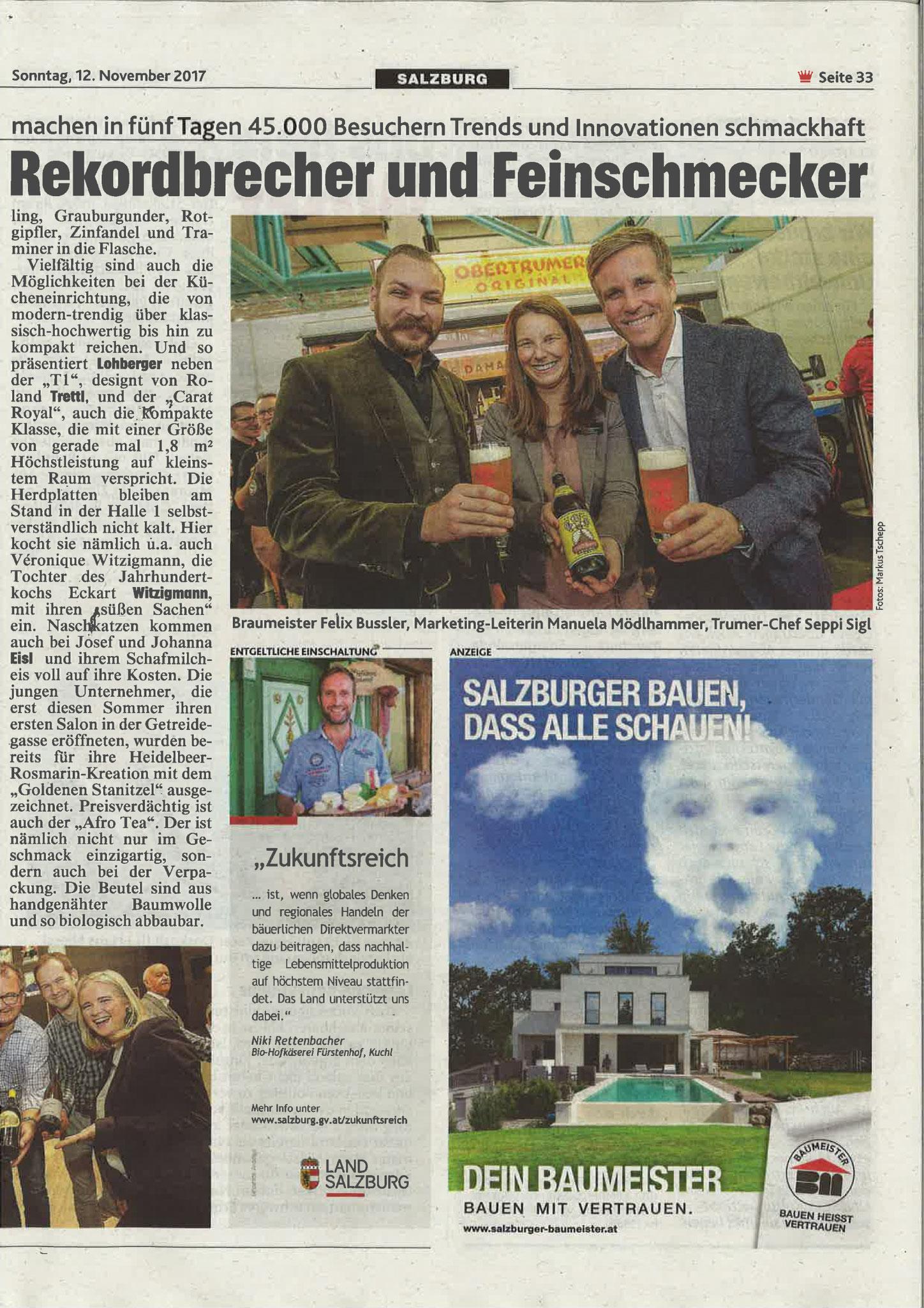 Kronen Zeitung, 12. November 2017