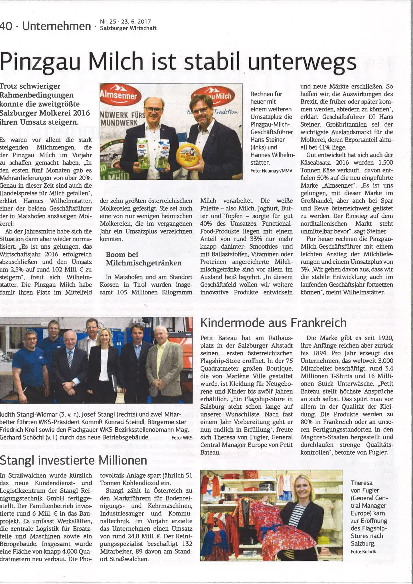 Salzburger Wirtschaft, 23. Juni 2017