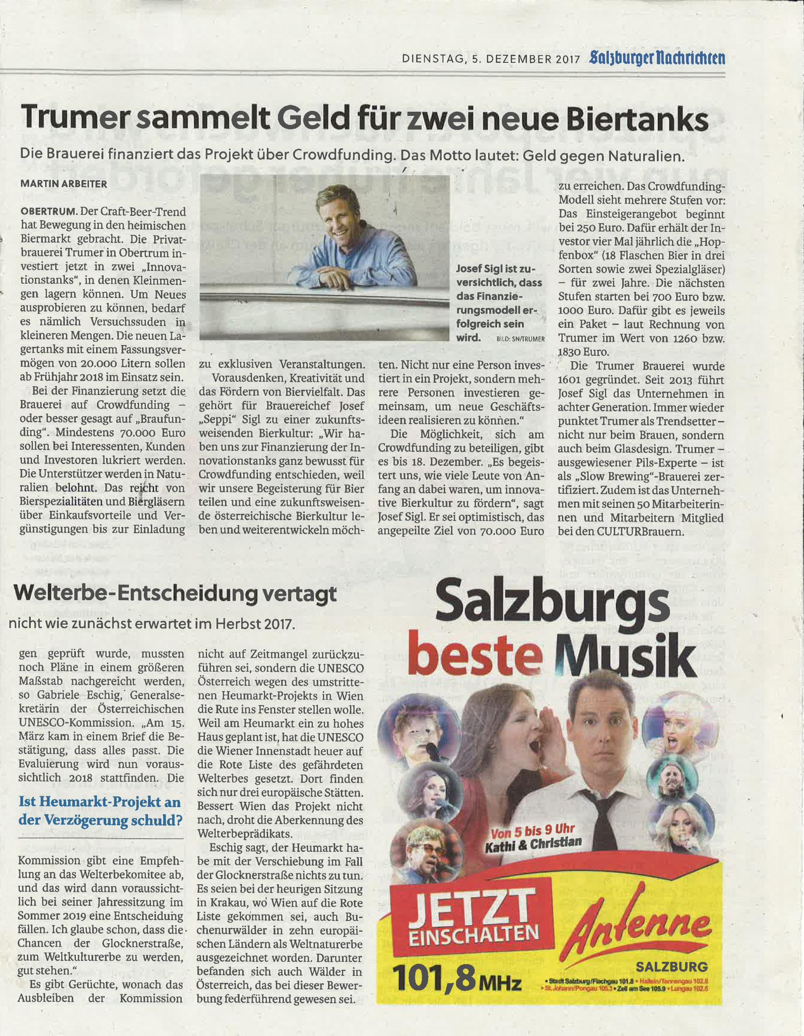 Salzburger Nachrichten, 05.Dezember 2017