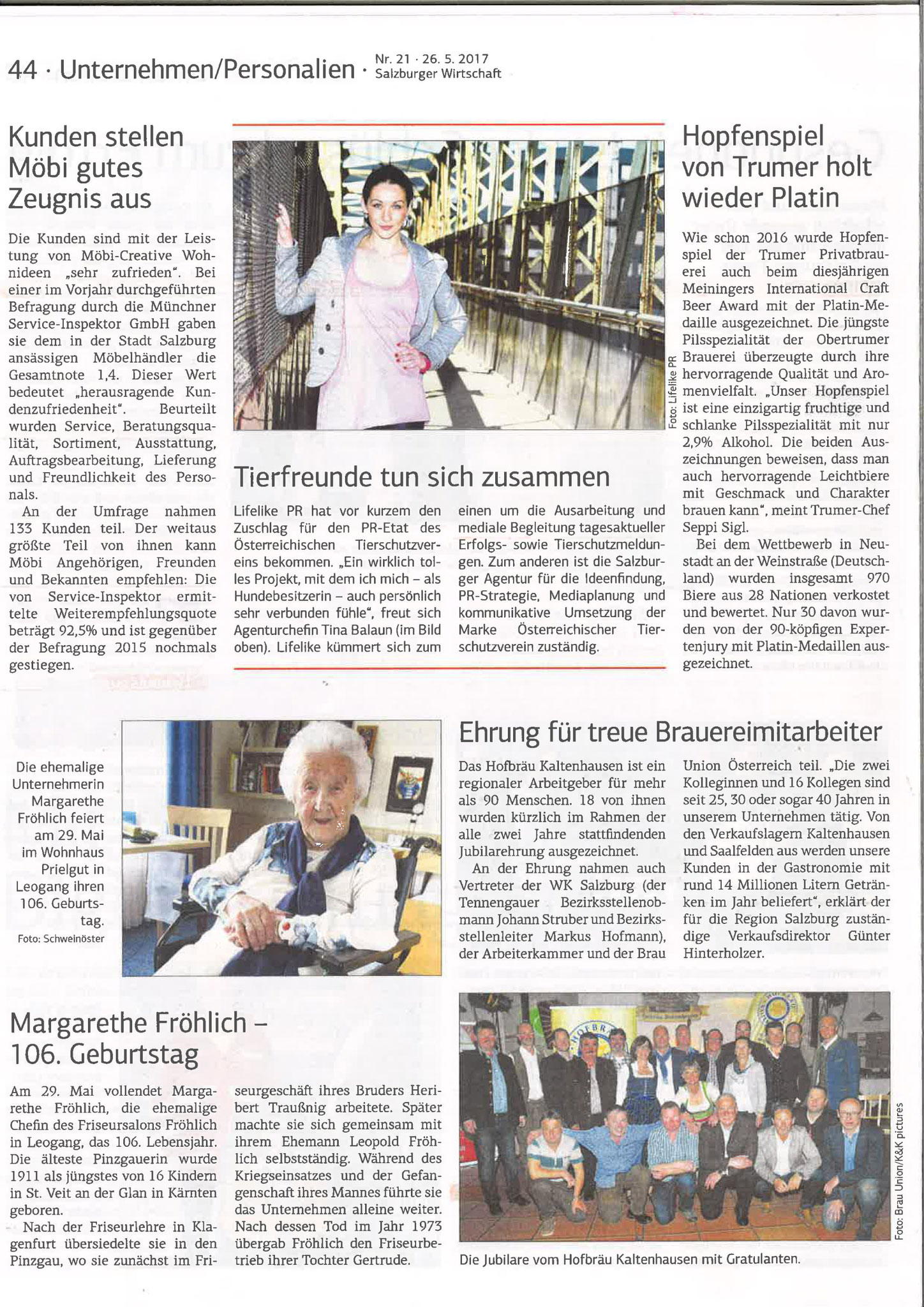 Salzburger Wirtschaft, 26. Mai 2017