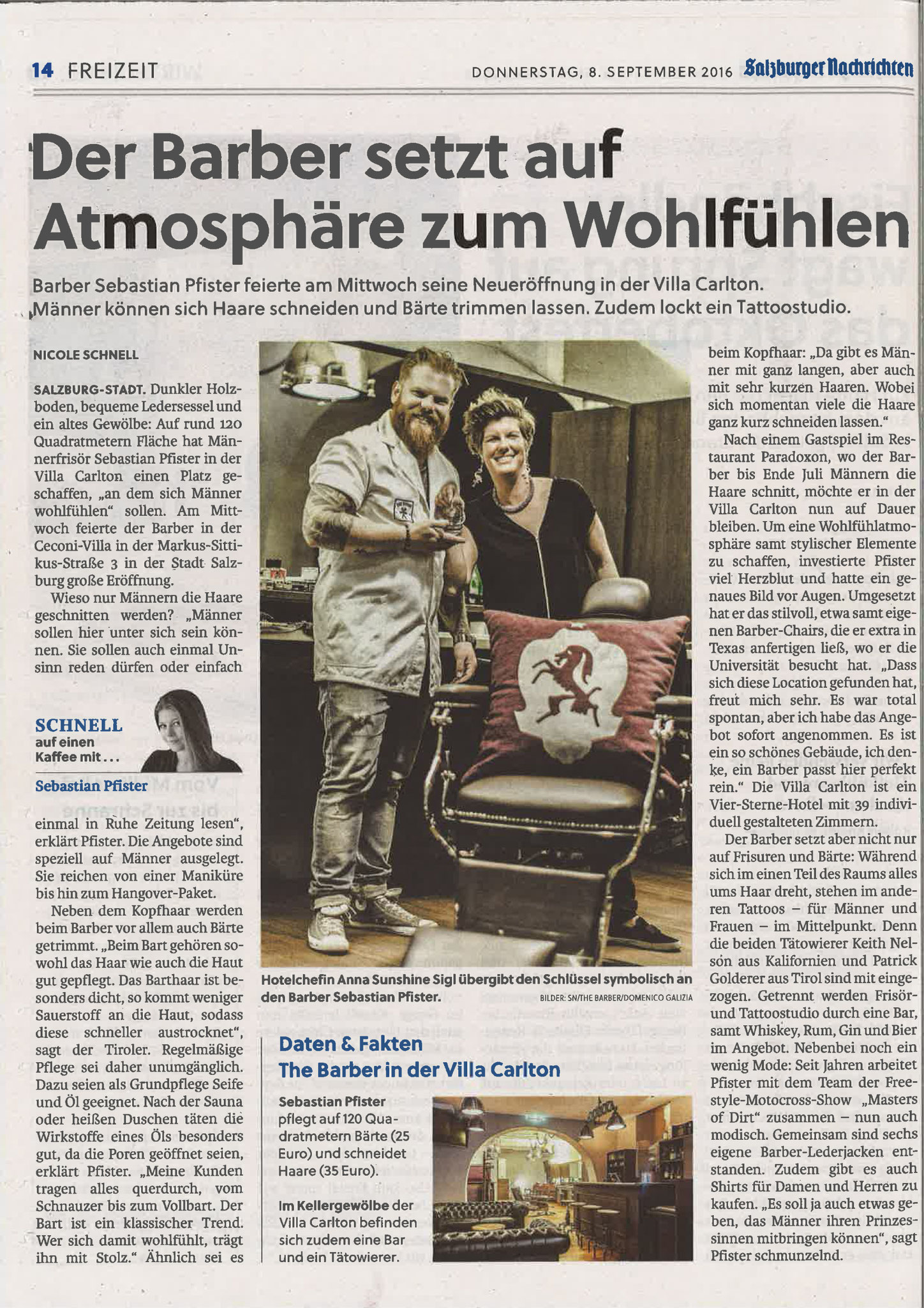 Salzburger Nachrichten, 8. September 2016