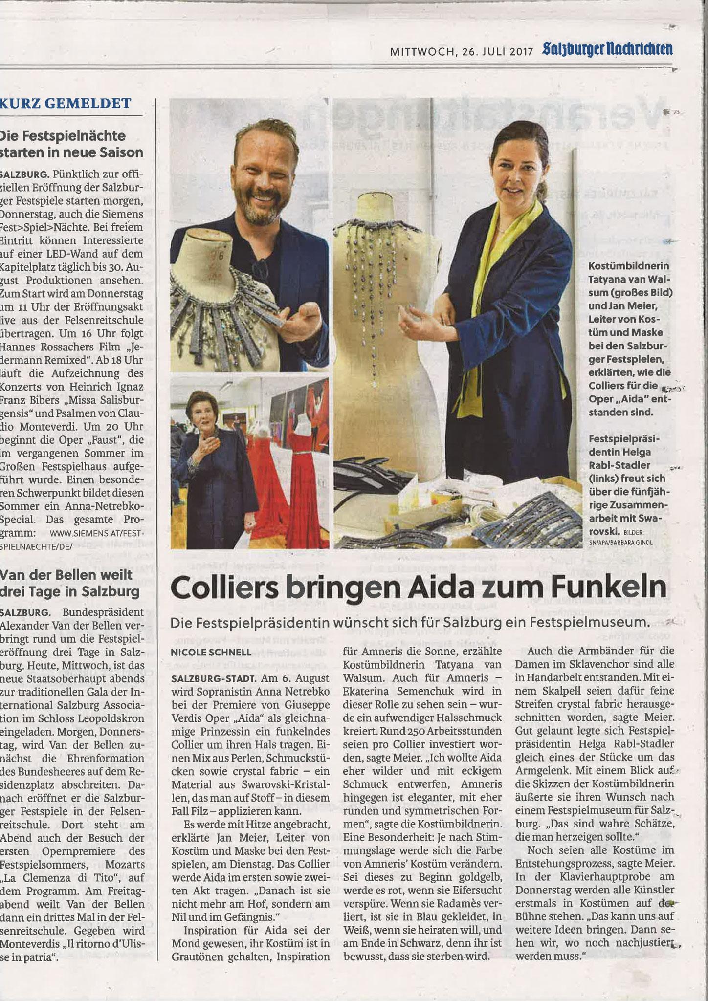 Salzburger Nachrichten, 26. Juli 2017
