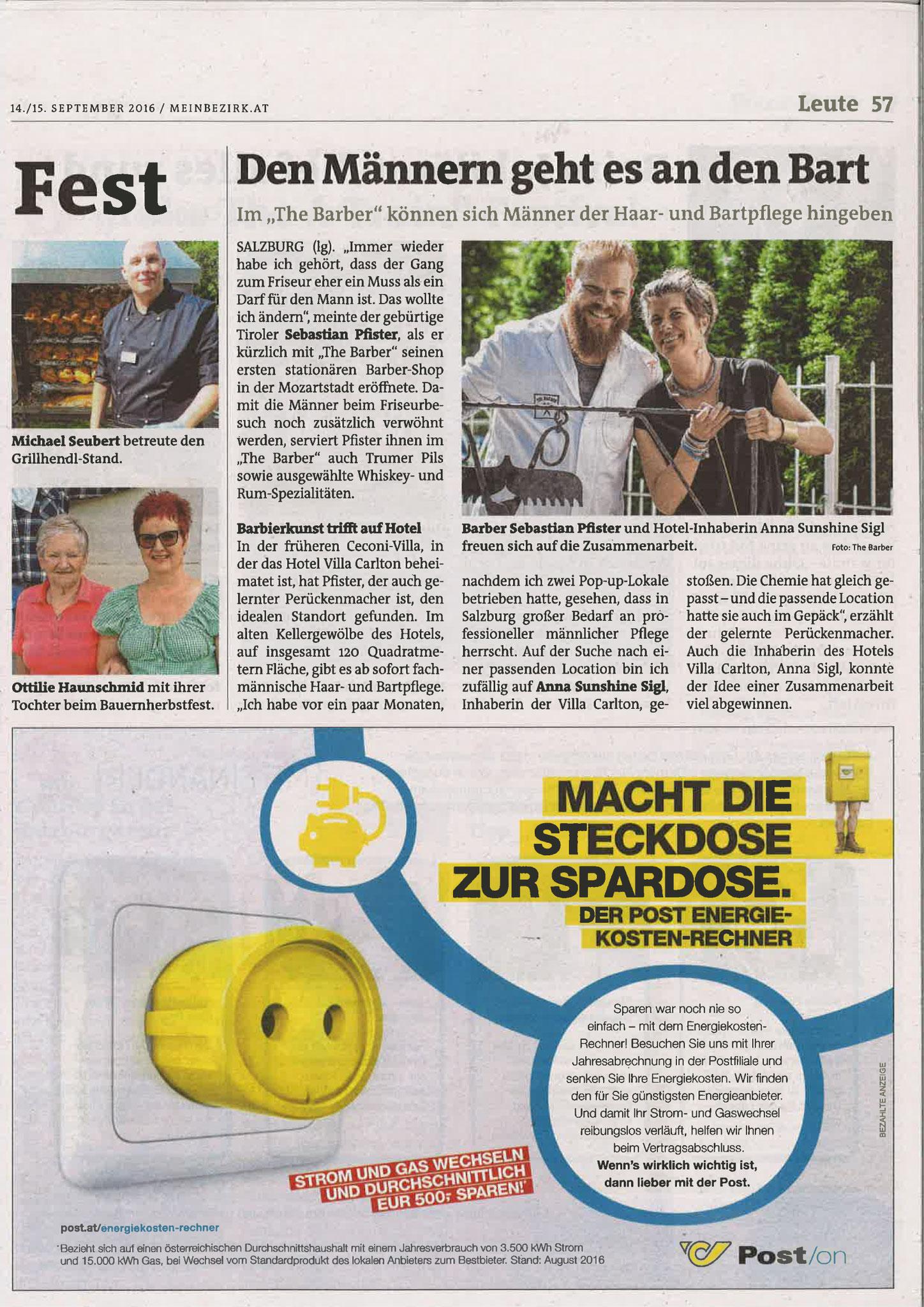 Stadtblatt Salzburg, 16. September 2016
