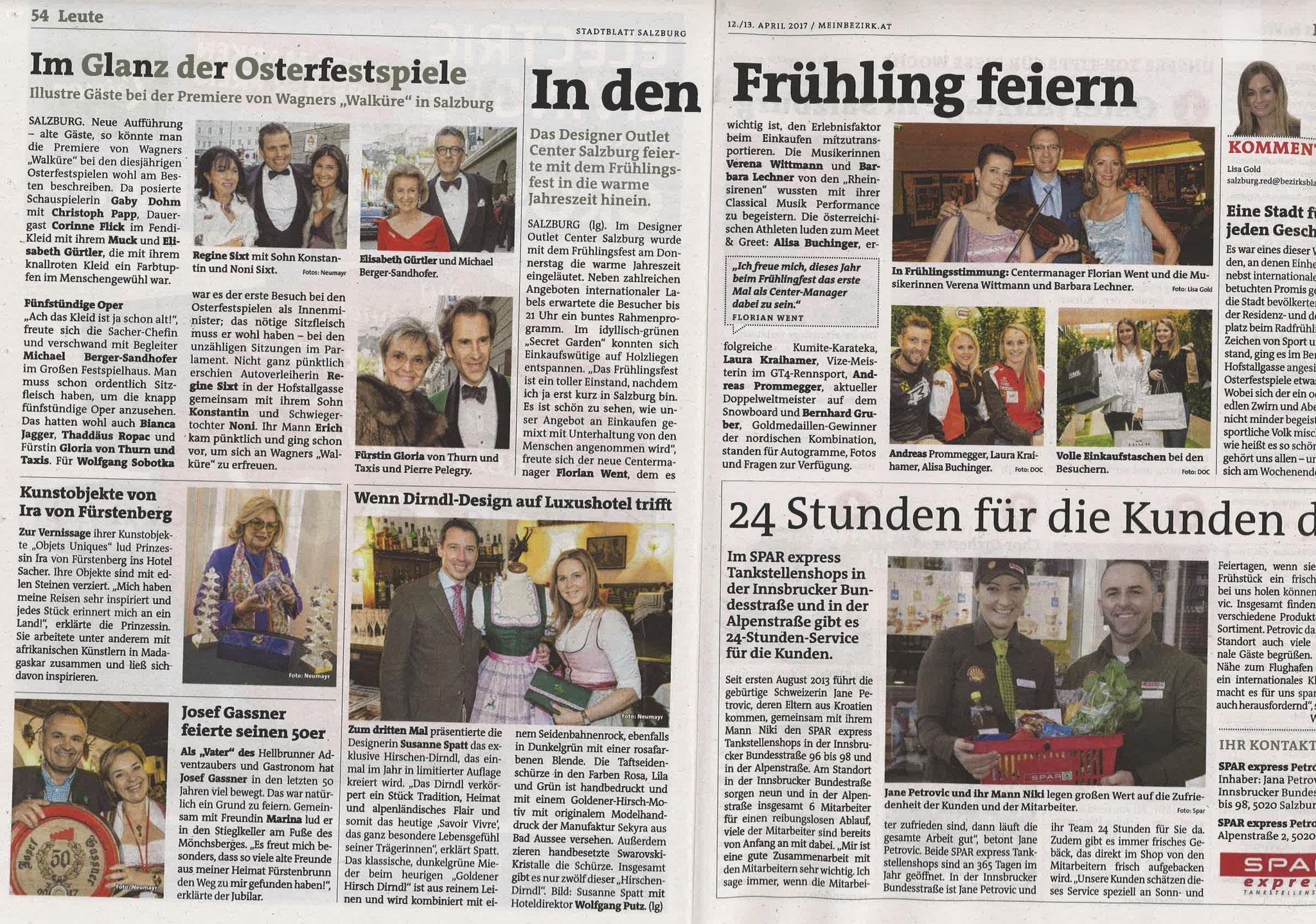 Stadtblatt Salzburg, 12./13. April 2017