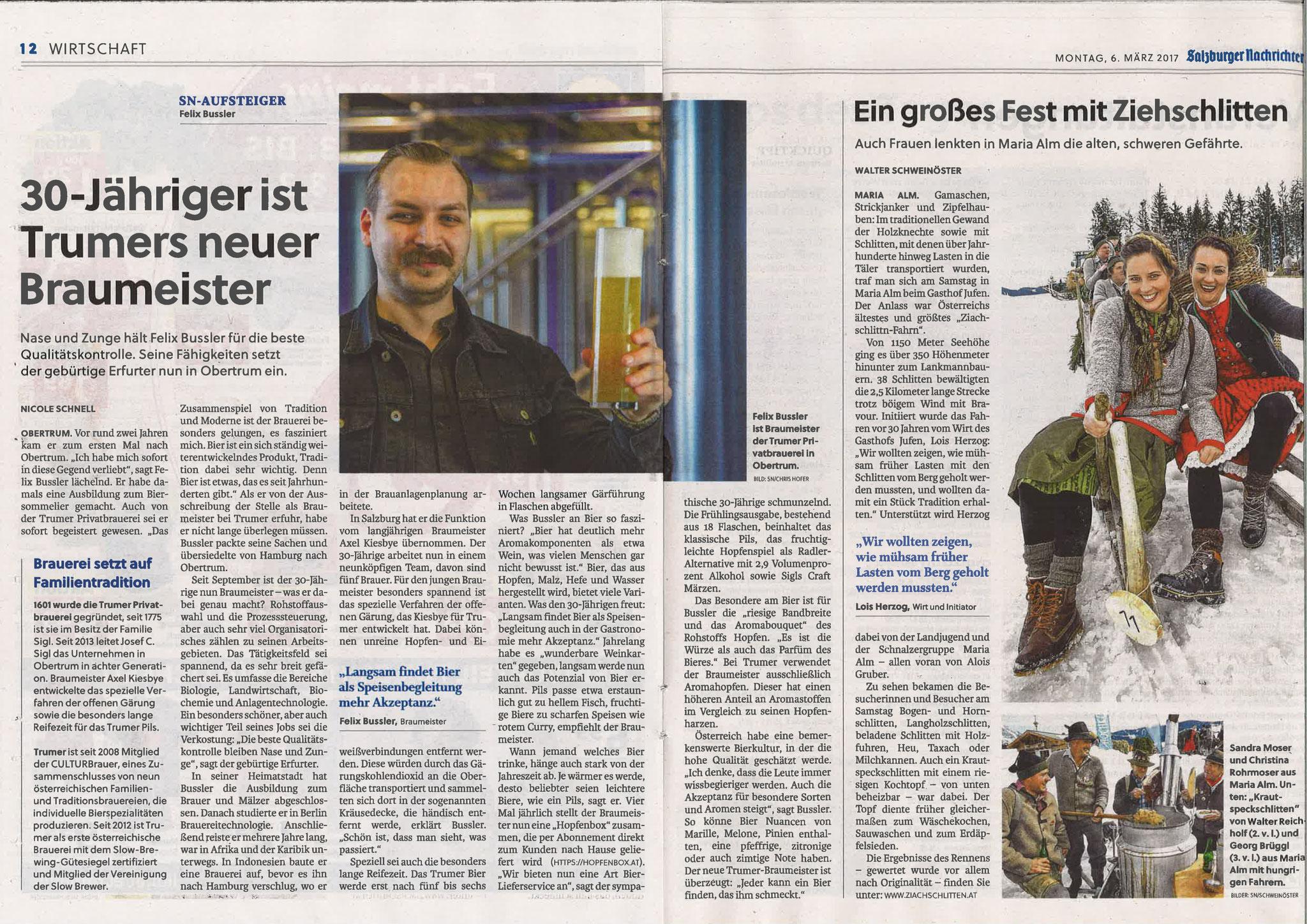 Salzburger Nachrichten, 6. März 2017