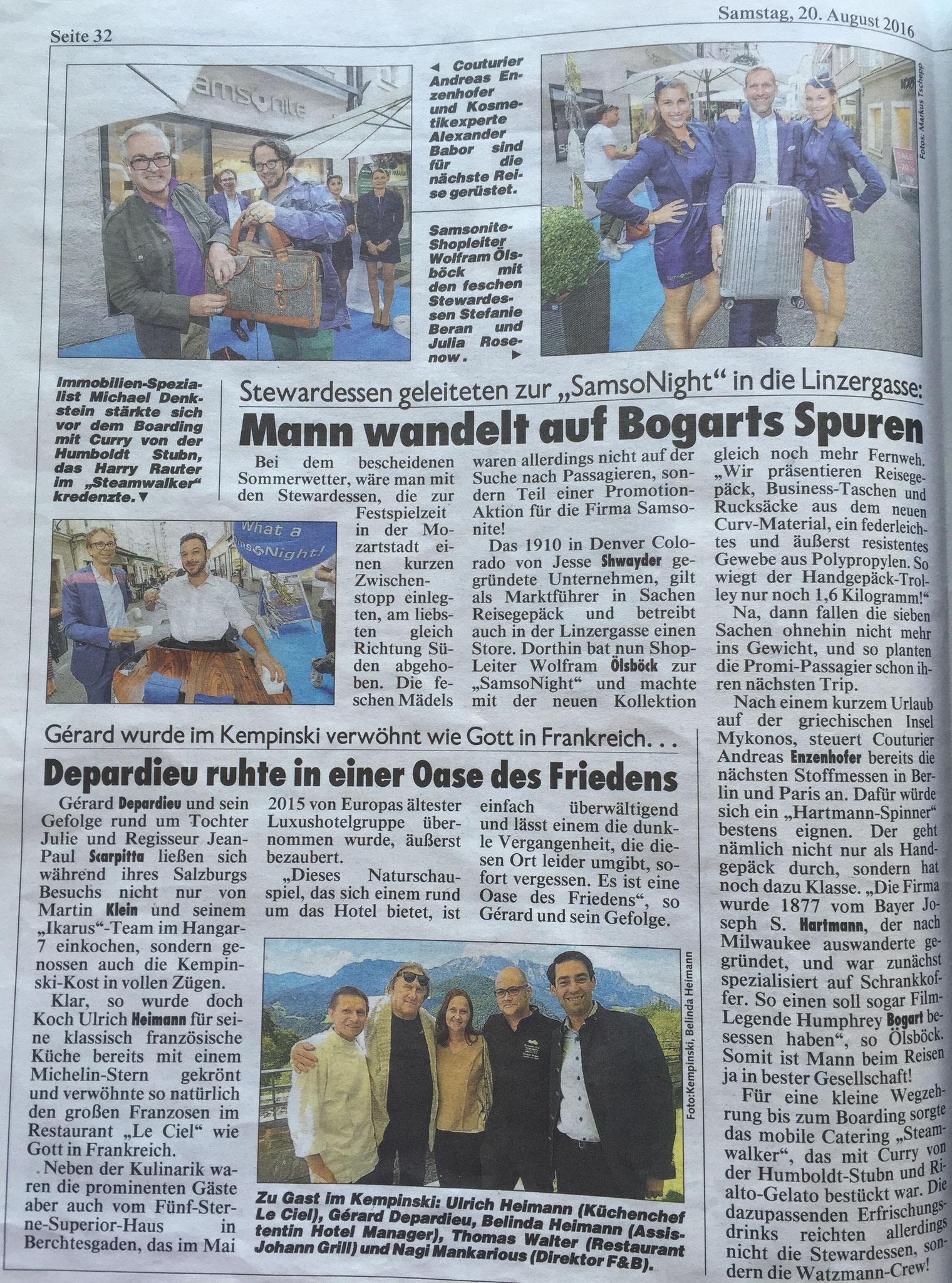 Kronen Zeitung Salzburg, 20. August 2016