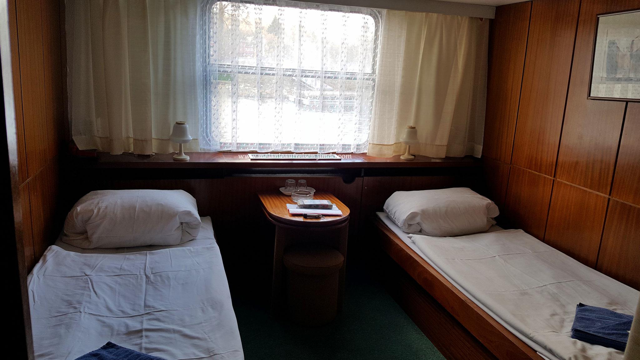 2er Kabine Botel Racek - natürlich gibt es die Kabinen auch mit Doppelbett