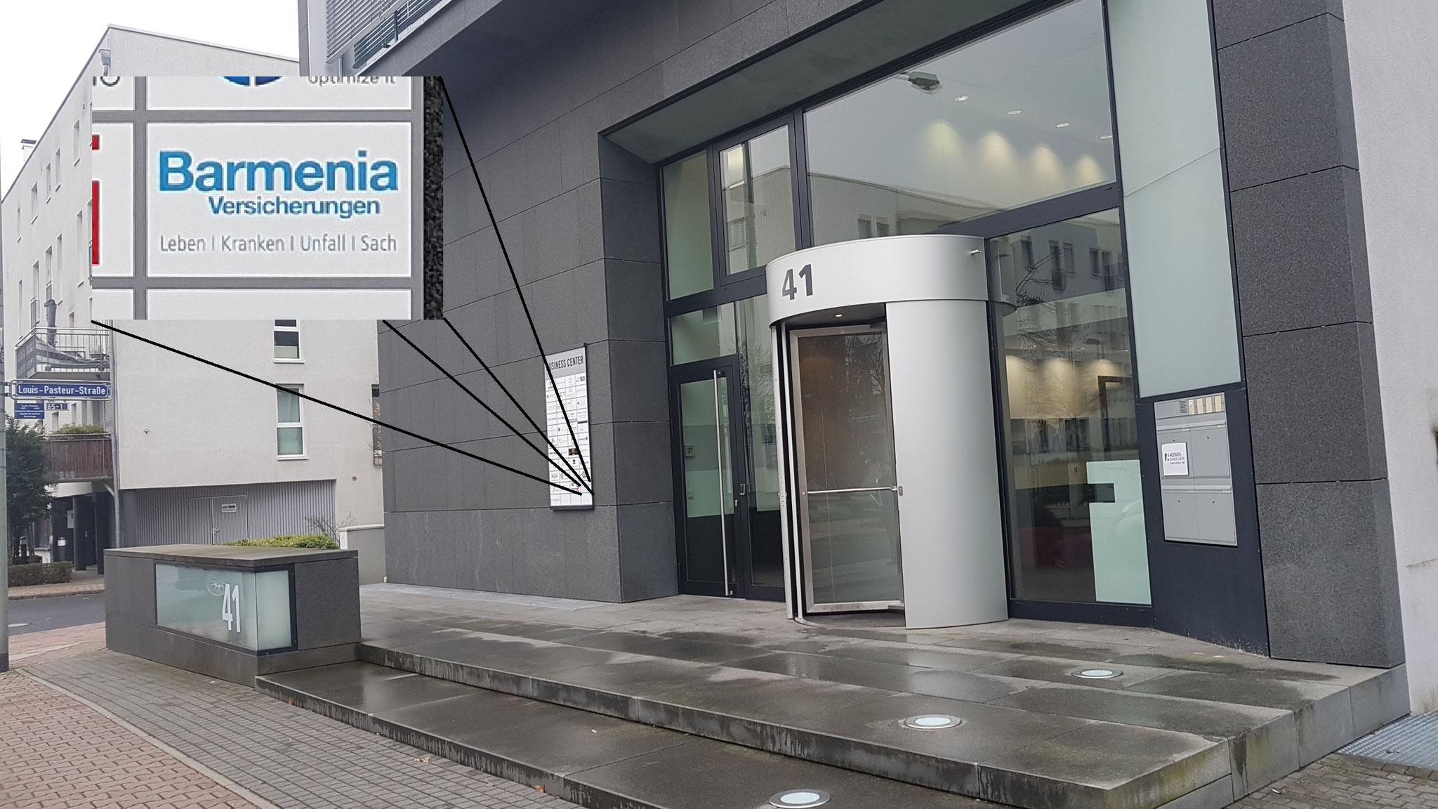 Eingang Bürocenter Agendis (Barmenia Versicherungen)