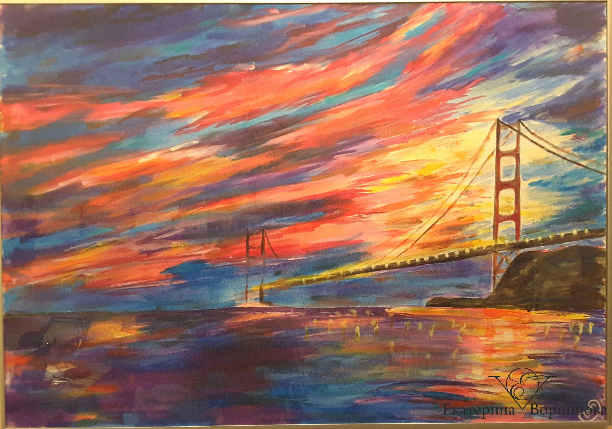 Золотой мост. Сан-Франциско  (110х70, акрил)