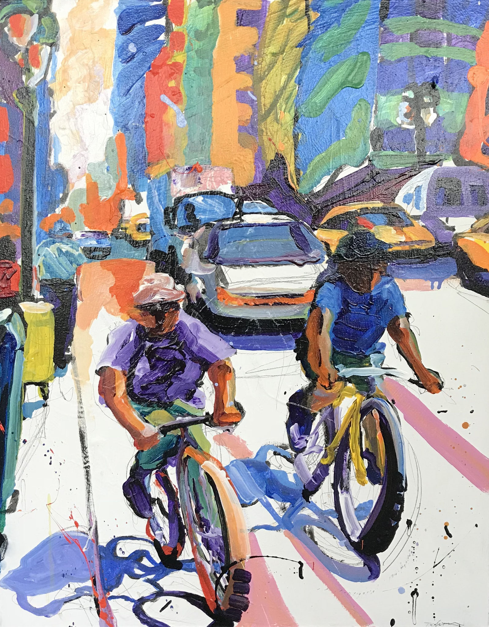 Tom Christopher A Ride Downtown 2003 Acryl auf Leinwand 76 x 61 cm 8.500,00 € (reg. 11.000,00 €)