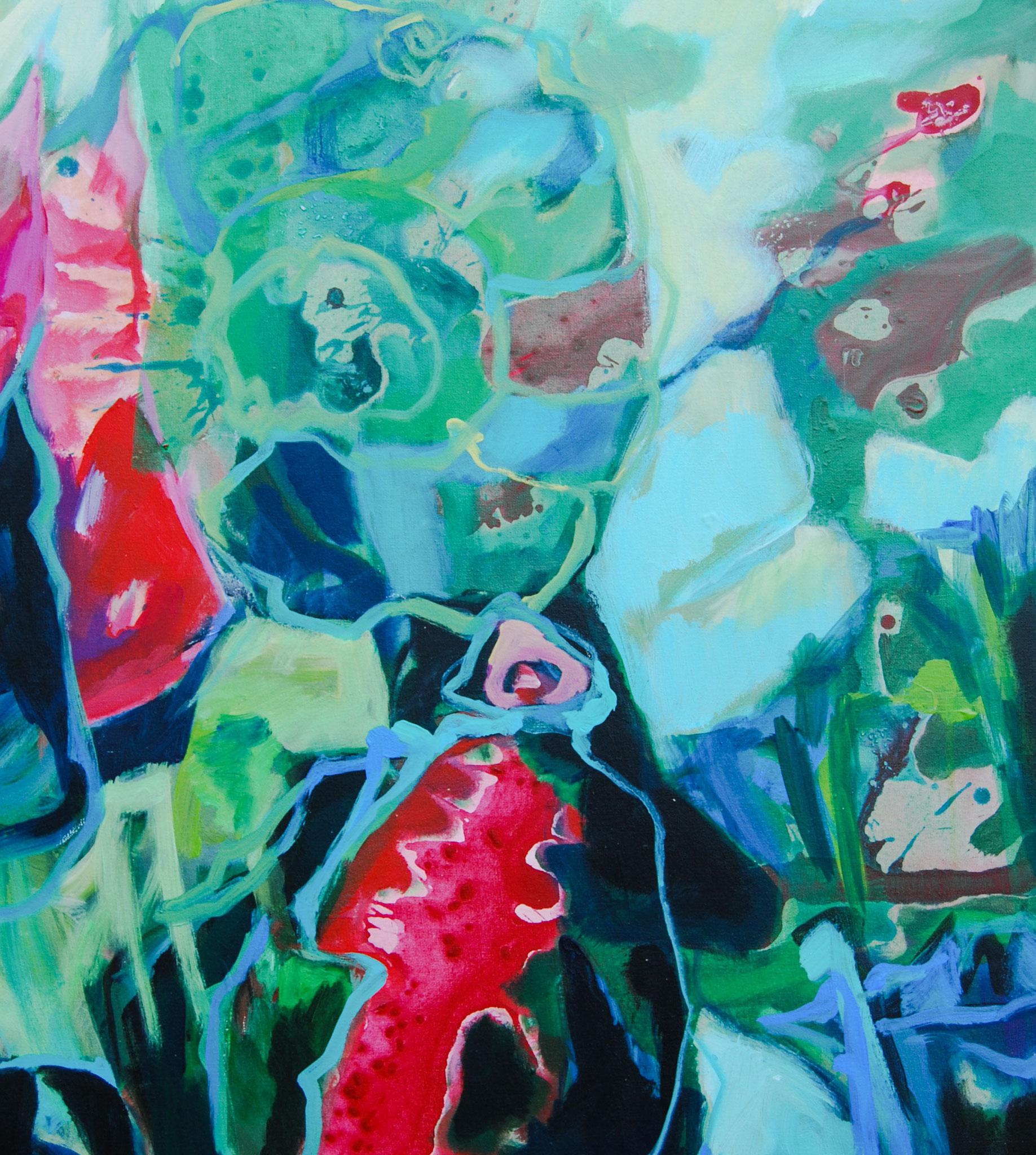 Garden Eden (1v6), 2018, Mischtechnik, 80 x 60 cm