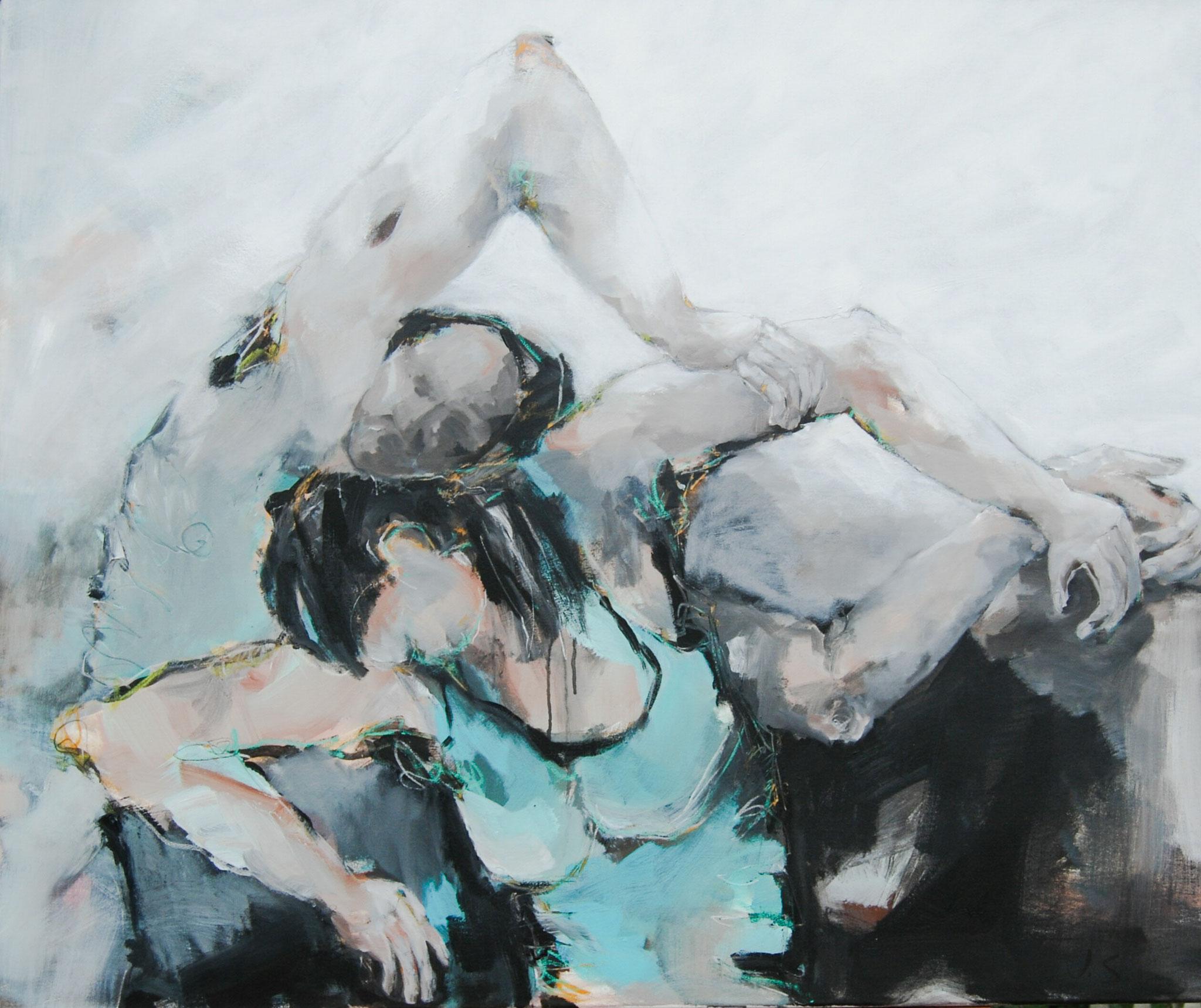 Dancing Queens IV, 2013, Acryl auf Leinwand, 100 x 120 cm