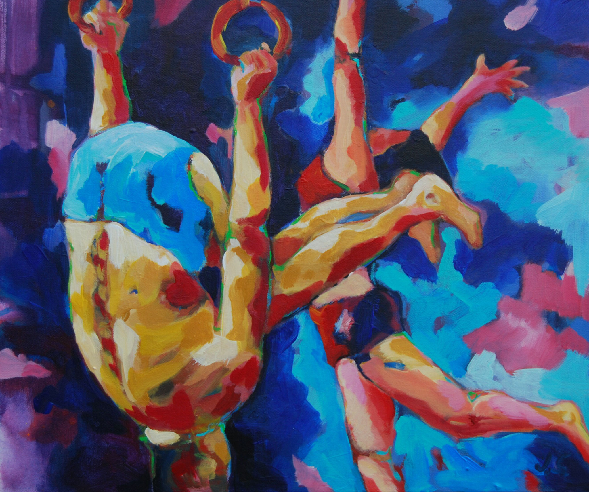 Zirkus ( Schwerelos) , 2014, Acryl auf leinwand, 50 x 60 cm