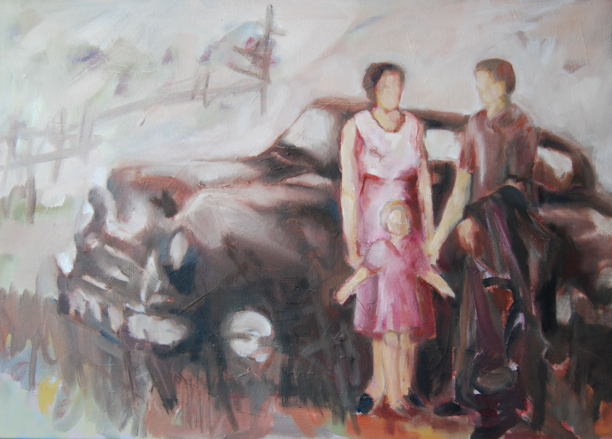 Memories 17A, 2017, Öl auf Leinwand, 50 x 70 cm