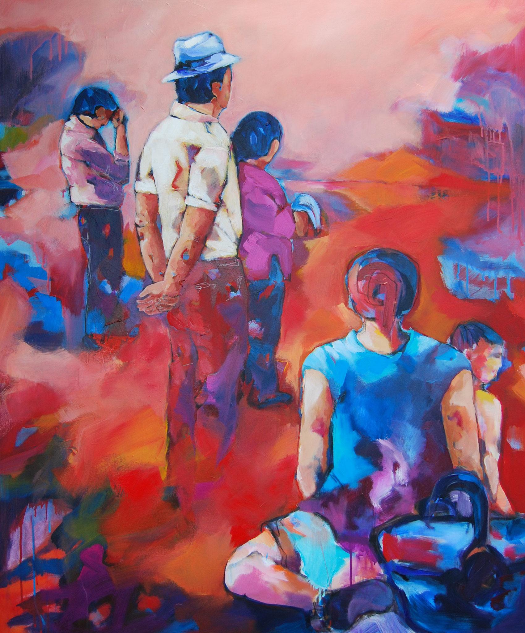 Weitsicht , 2015, Acryl auf Leinwand, 120 x 100 cm