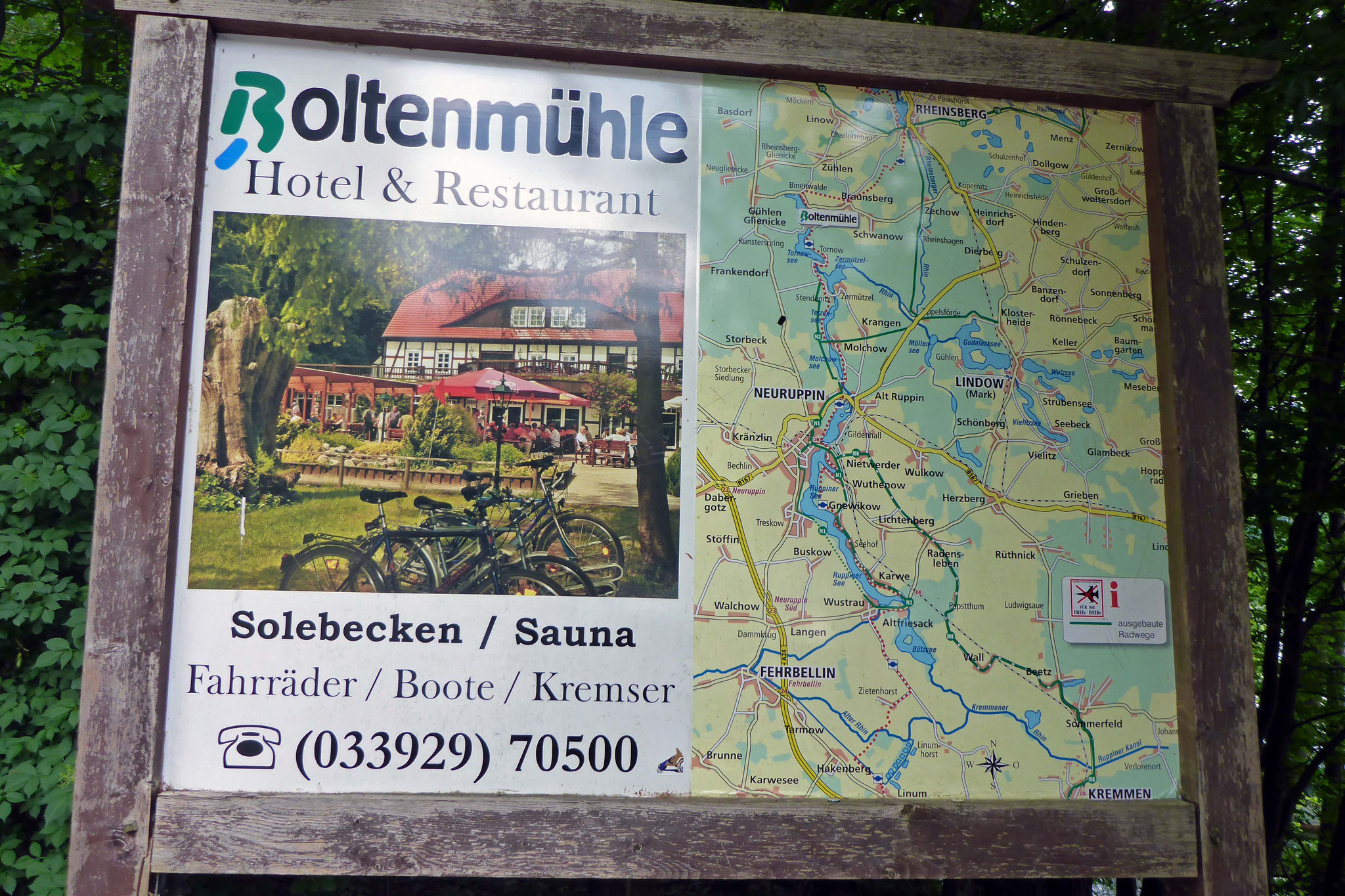 Ziel der Mittagspause ist die Boltenmühle.