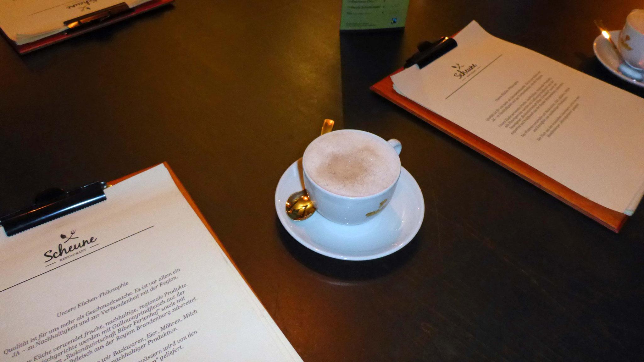 """Endlich - Kakao im Restaurant """"Scheune"""""""