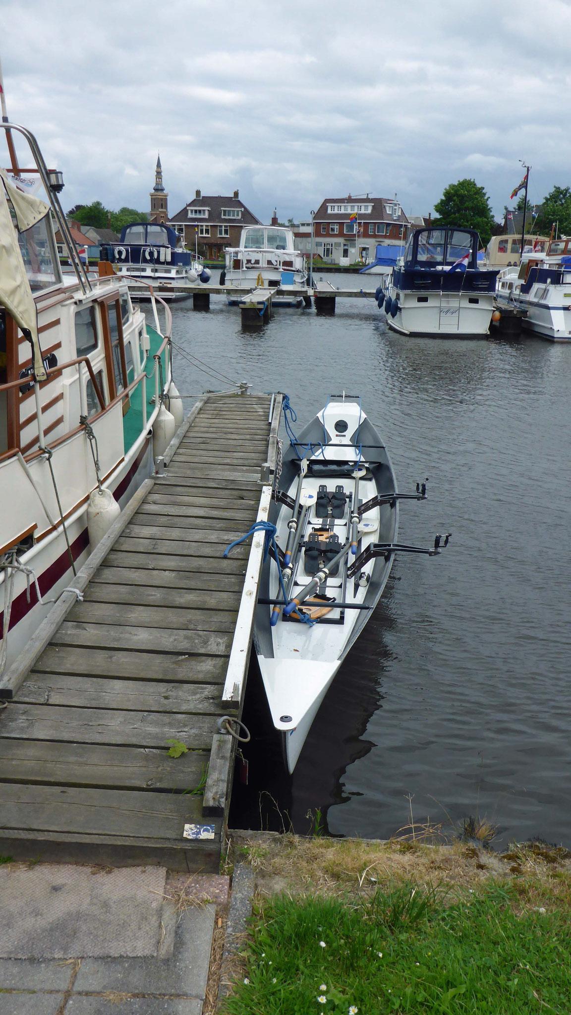 Josef vom RV Neptunus bringt uns im Yachthafen unter! Seine Frau fährt uns zum Bahnhof. Danke!!!