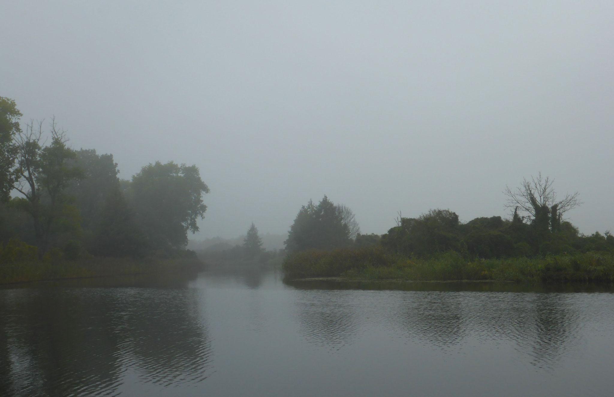 Alles in Nebel gehüllt.