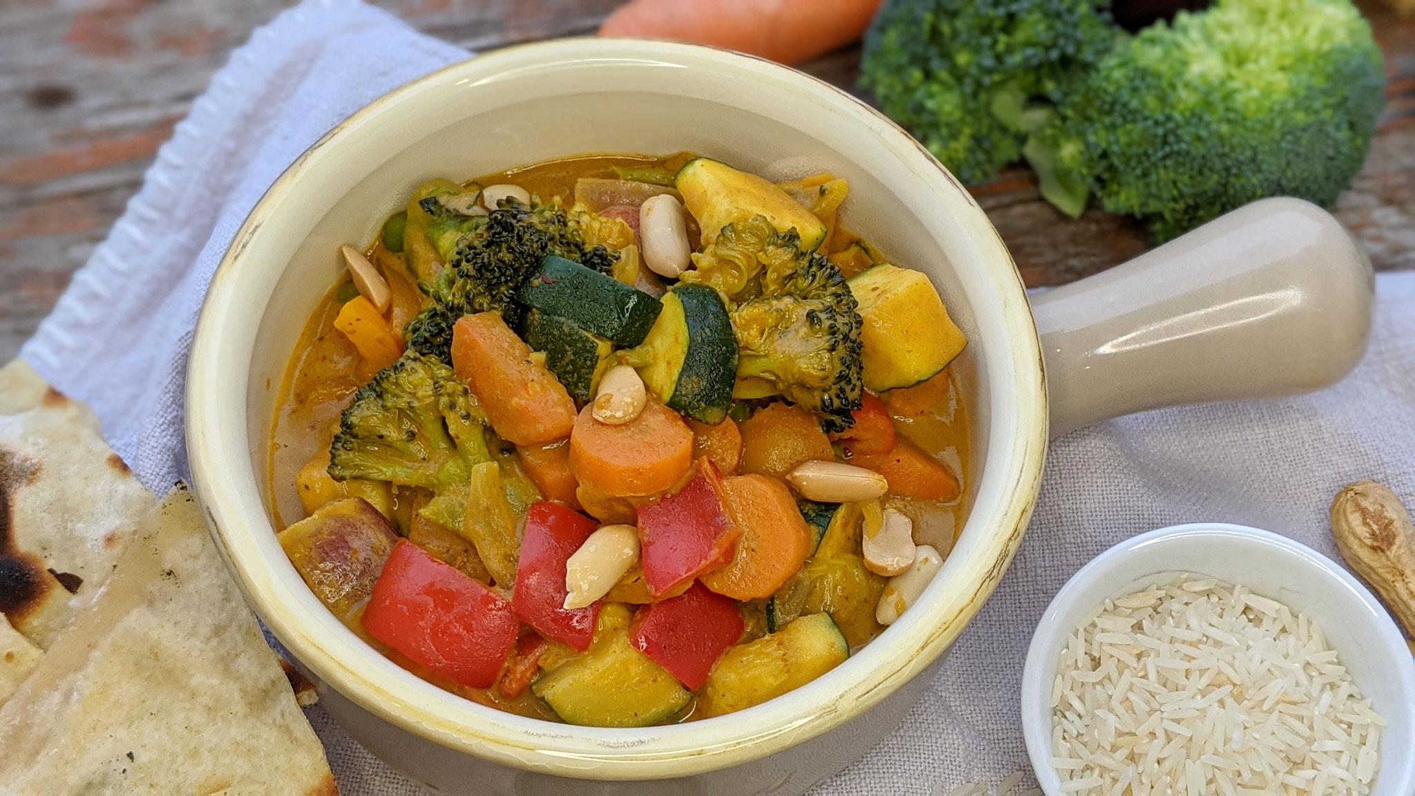 15-Minuten Erdnuss-Curry (vegan)