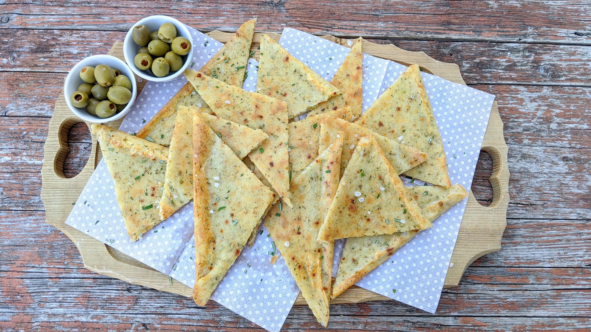 Schnelles Käse-Pizzabrot