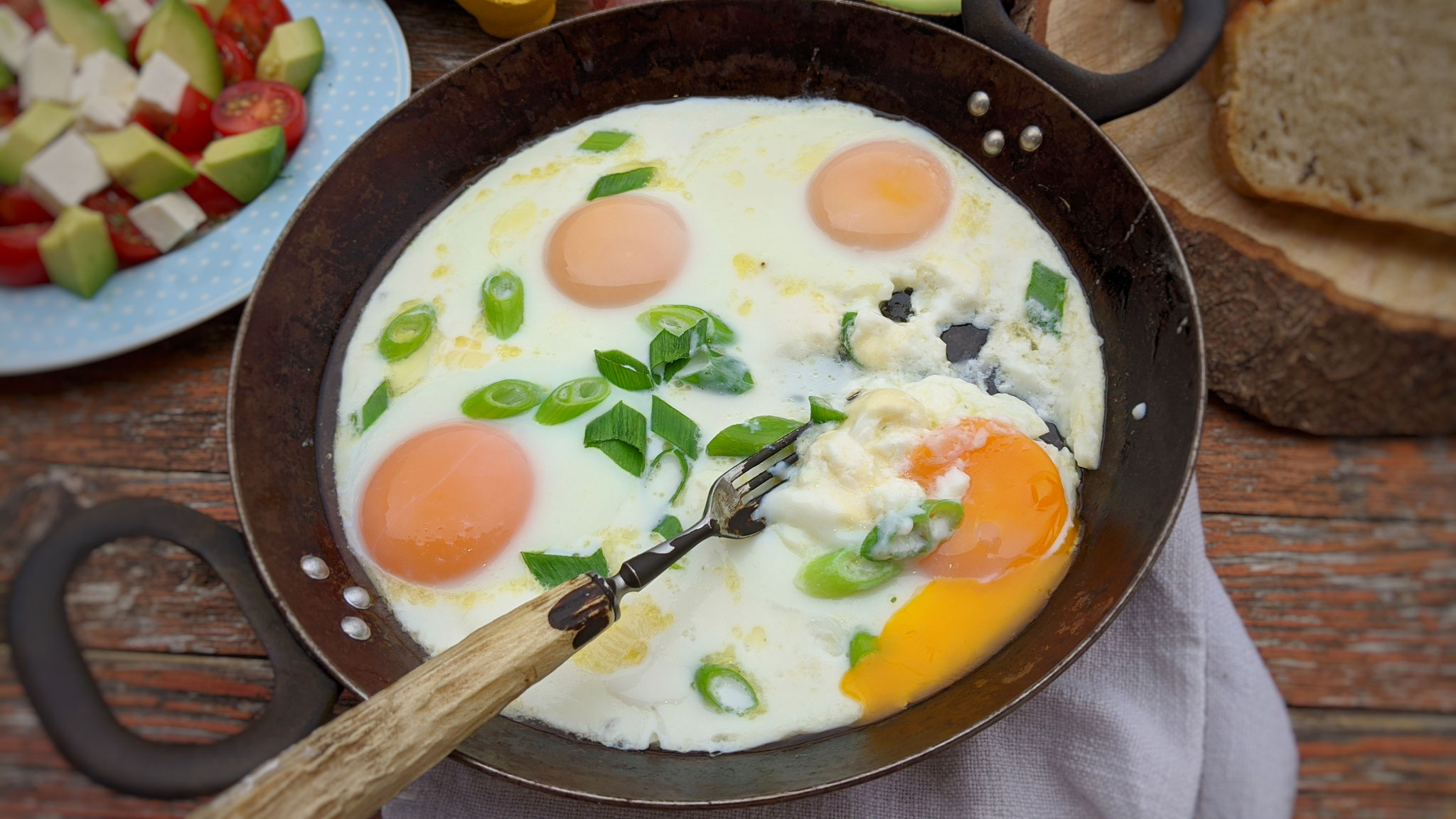 Cremiges Käse-Spiegelei aus dem Ofen