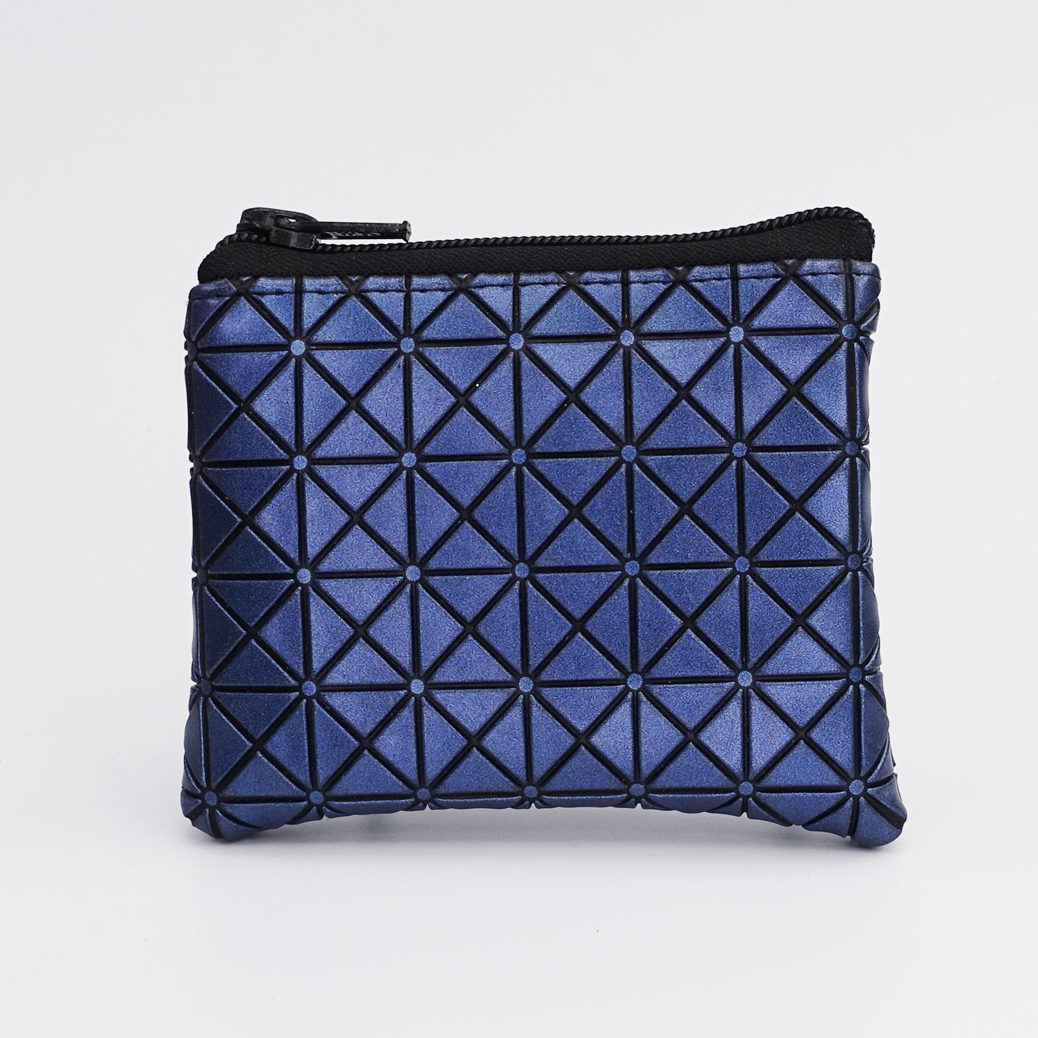 Porte-monnaie végan Japan bleu, zip nylon